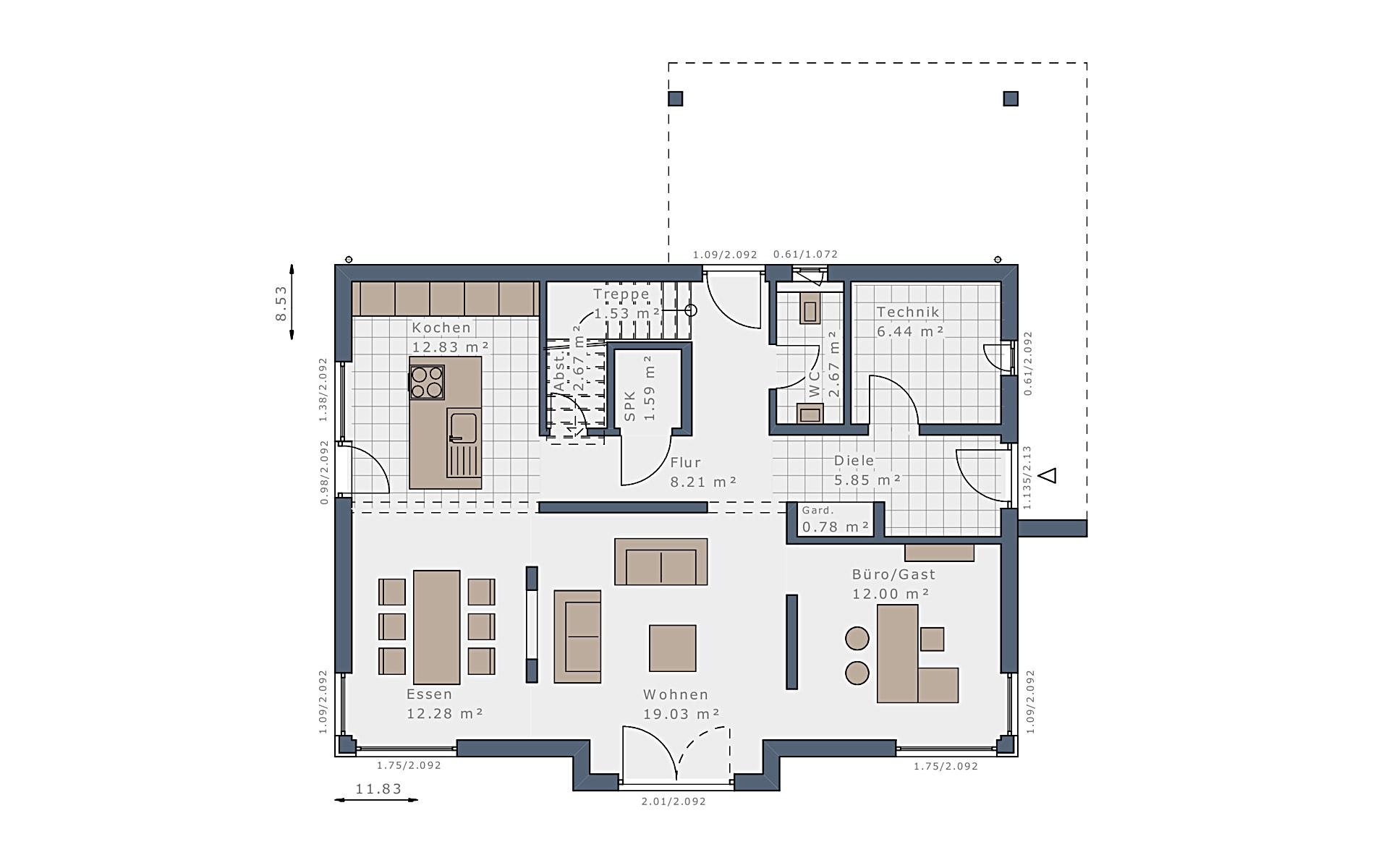 Erdgeschoss Selection-E-169 E5 von Schwabenhaus GmbH & Co. KG