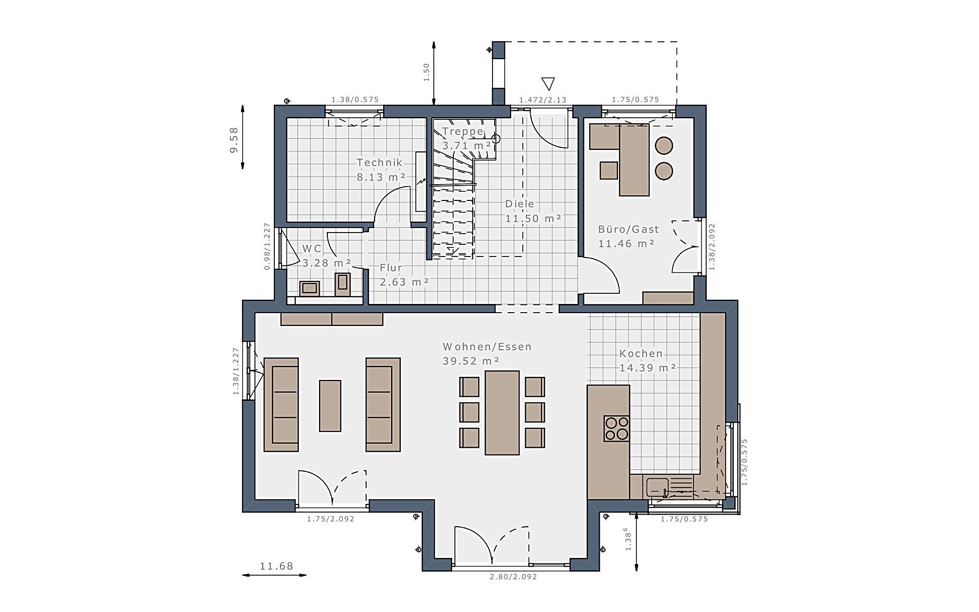 Erdgeschoss Selection-E-175 E1 von Schwabenhaus GmbH & Co. KG