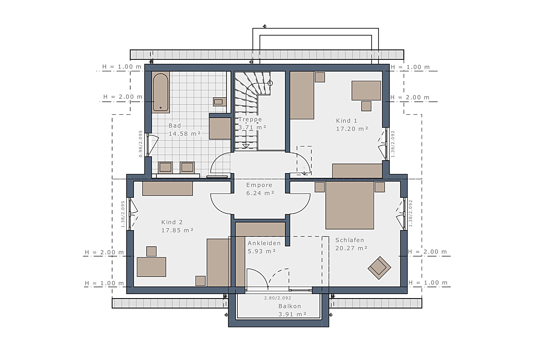 Dachgeschoss Selection-E-175 E3 von Schwabenhaus GmbH & Co. KG