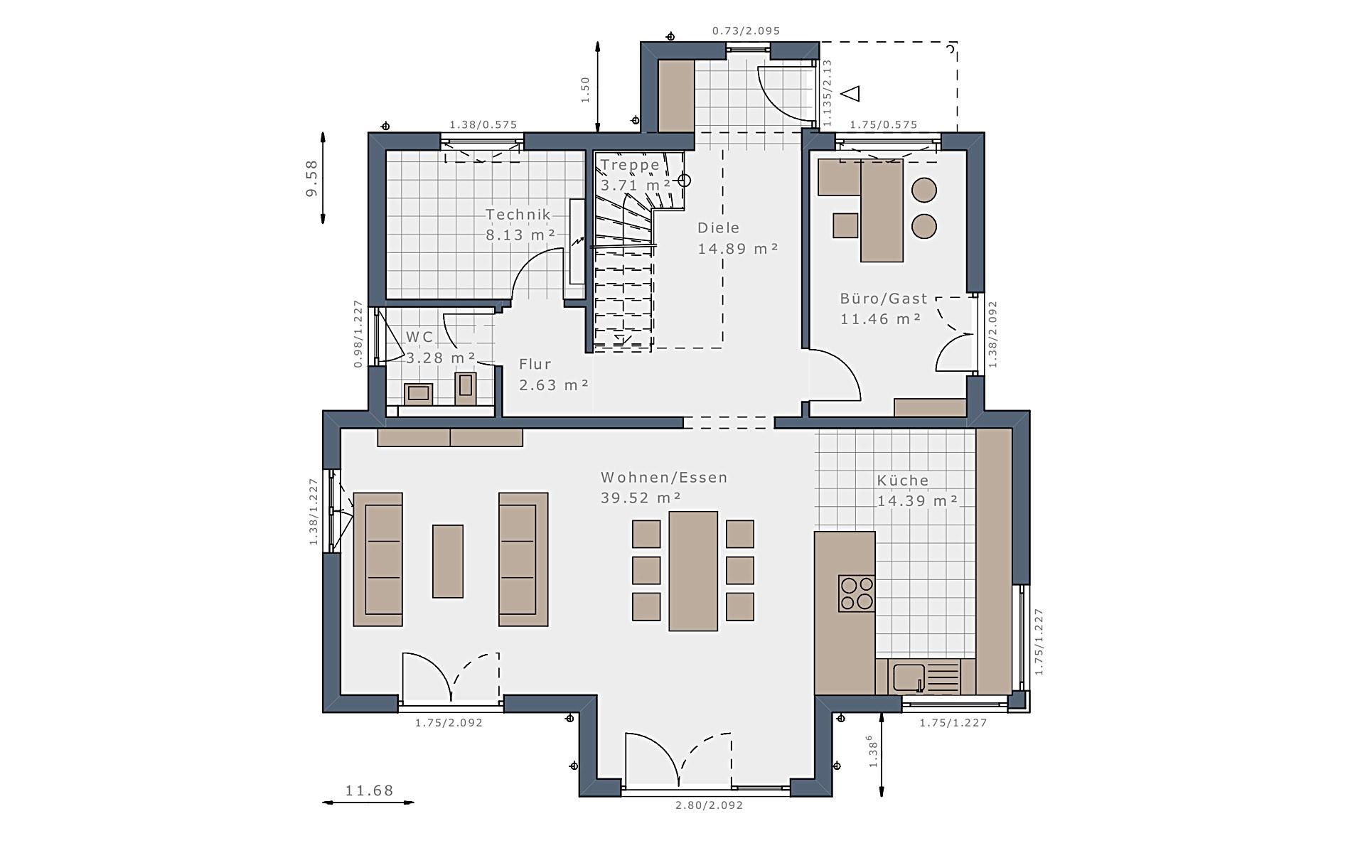 Erdgeschoss Selection-E-175 E3 von Schwabenhaus GmbH & Co. KG