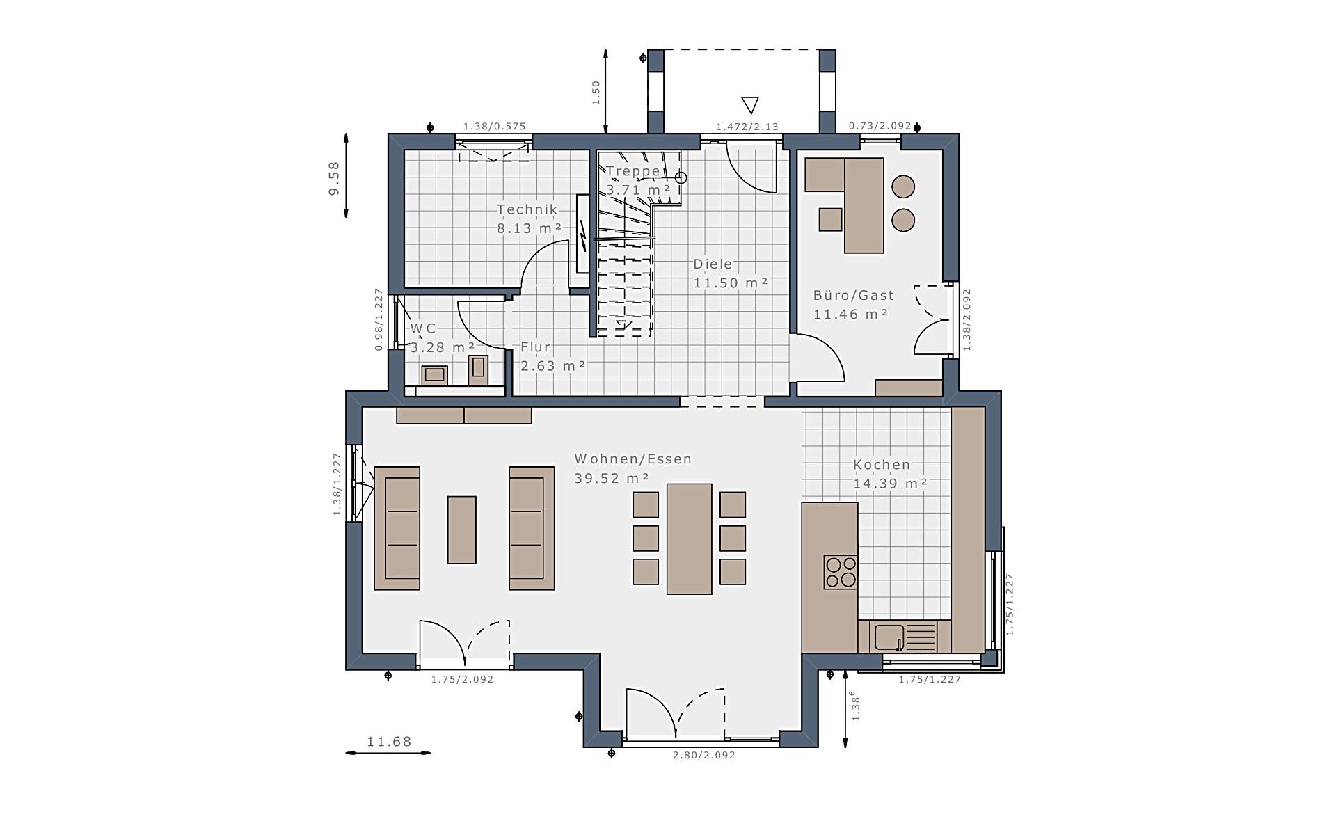 Erdgeschoss Selection-E-175 E5 von Schwabenhaus GmbH & Co. KG