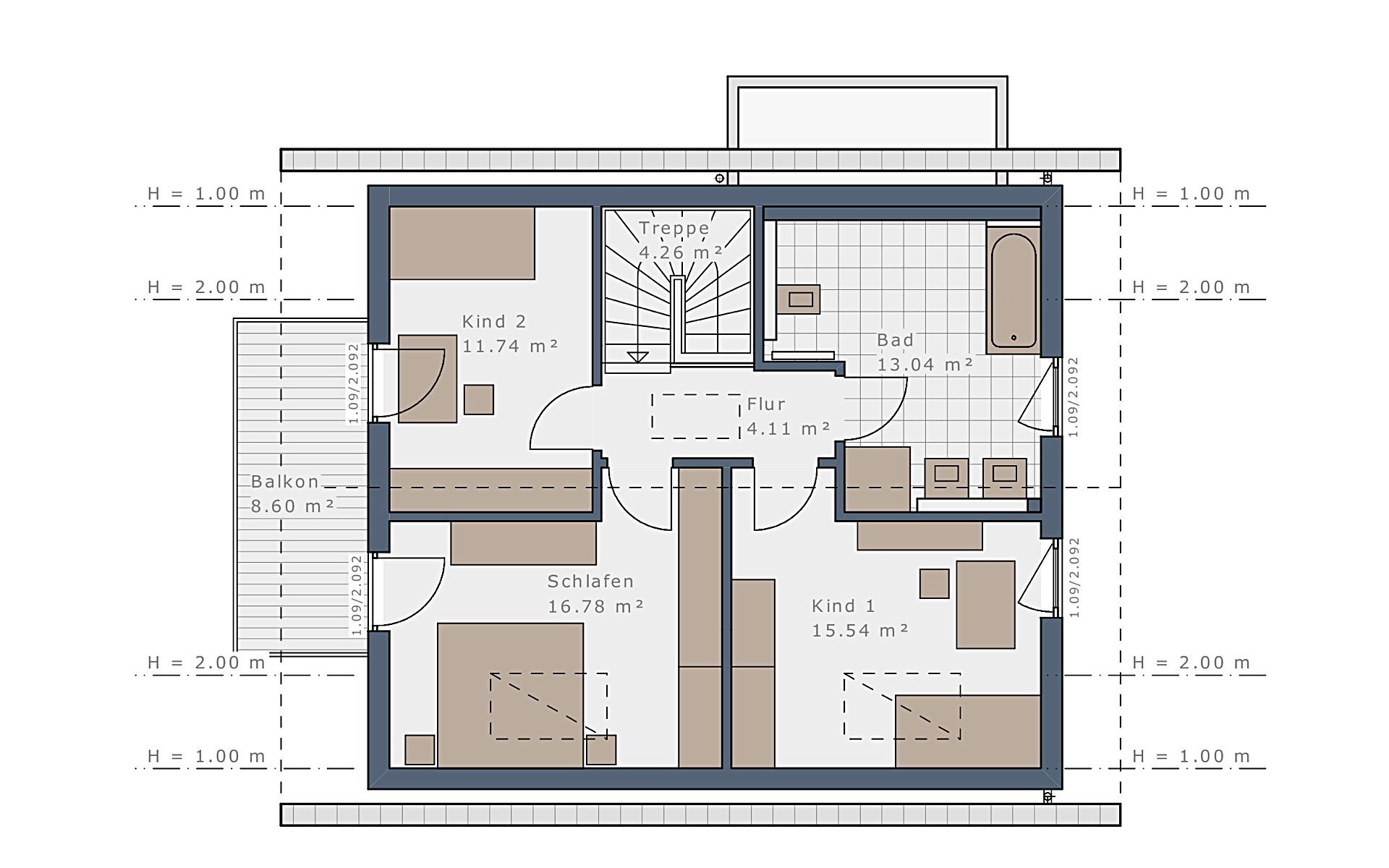 Dachgeschoss Sensation-E-132 E1 von Schwabenhaus GmbH & Co. KG
