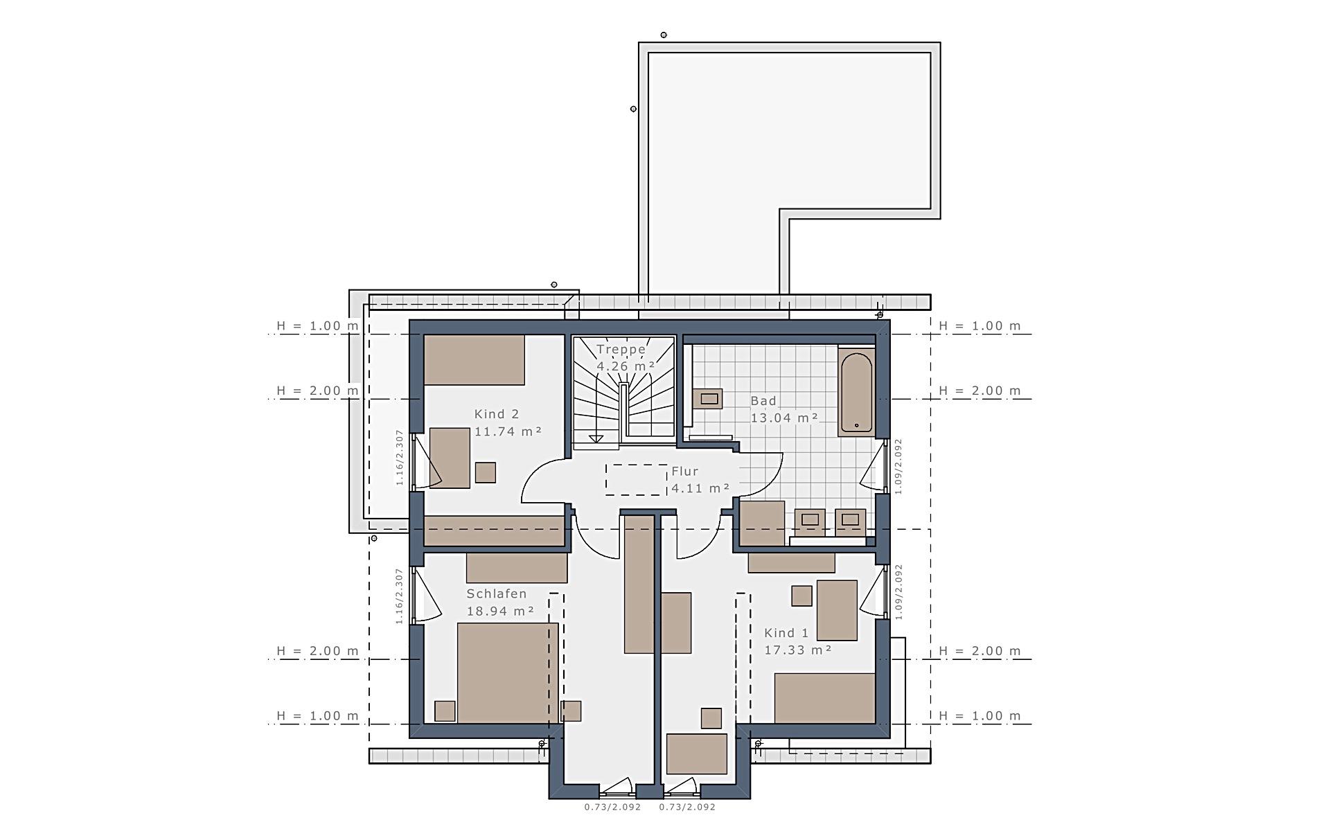 Dachgeschoss Sensation-E-132 E3 von Schwabenhaus GmbH & Co. KG
