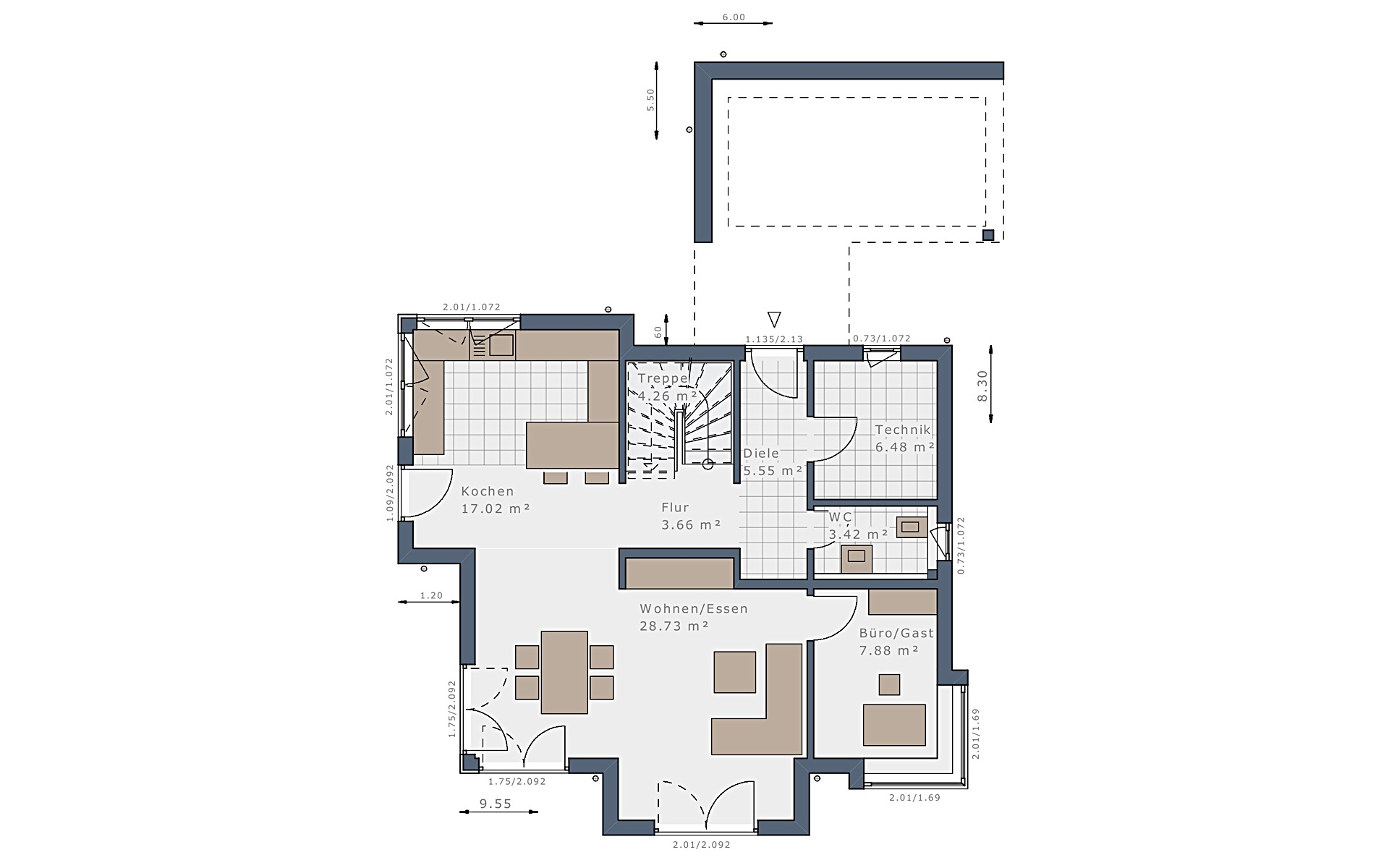 Erdgeschoss Sensation-E-132 E3 von Schwabenhaus GmbH & Co. KG