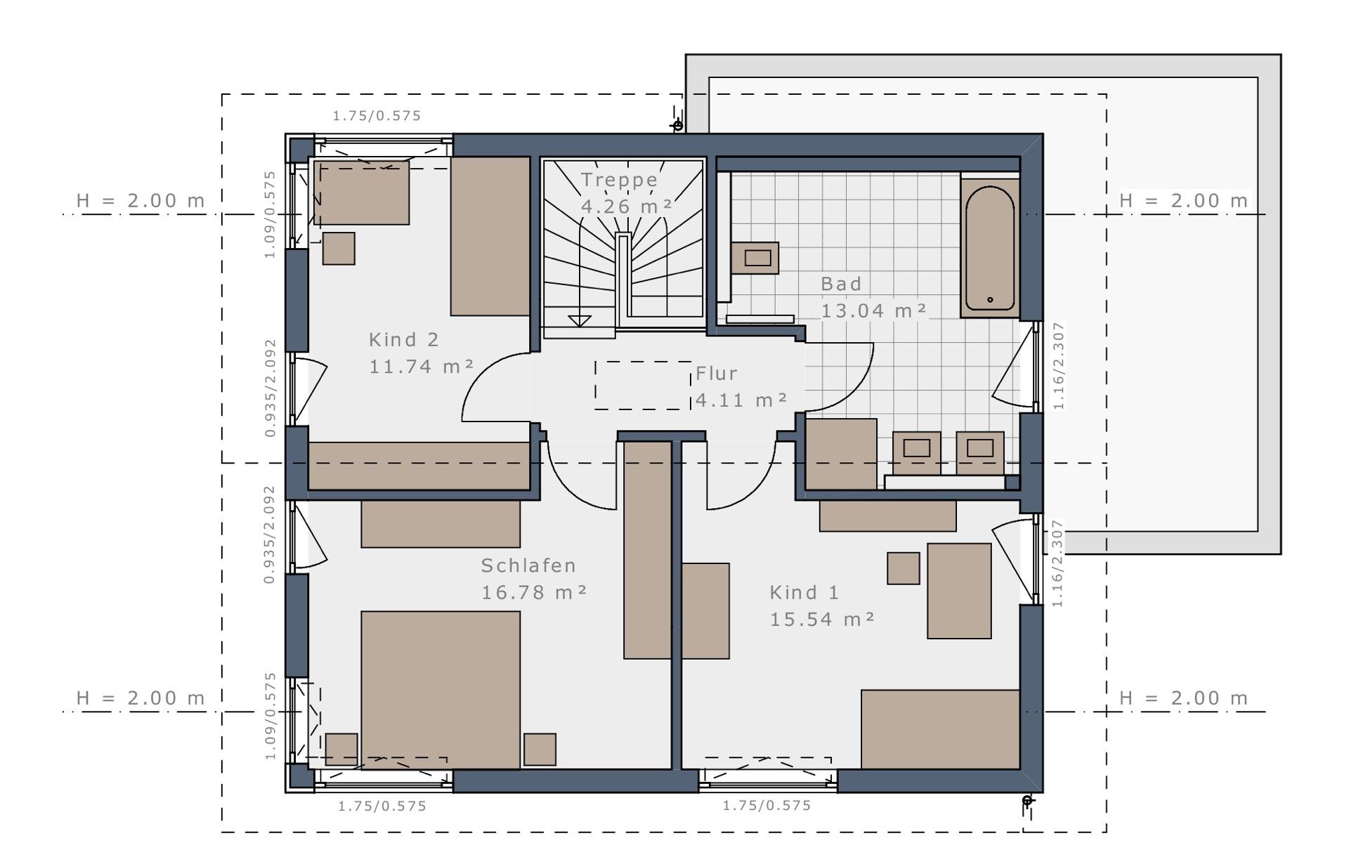 Dachgeschoss Sensation-E-132 E4 von Schwabenhaus GmbH & Co. KG