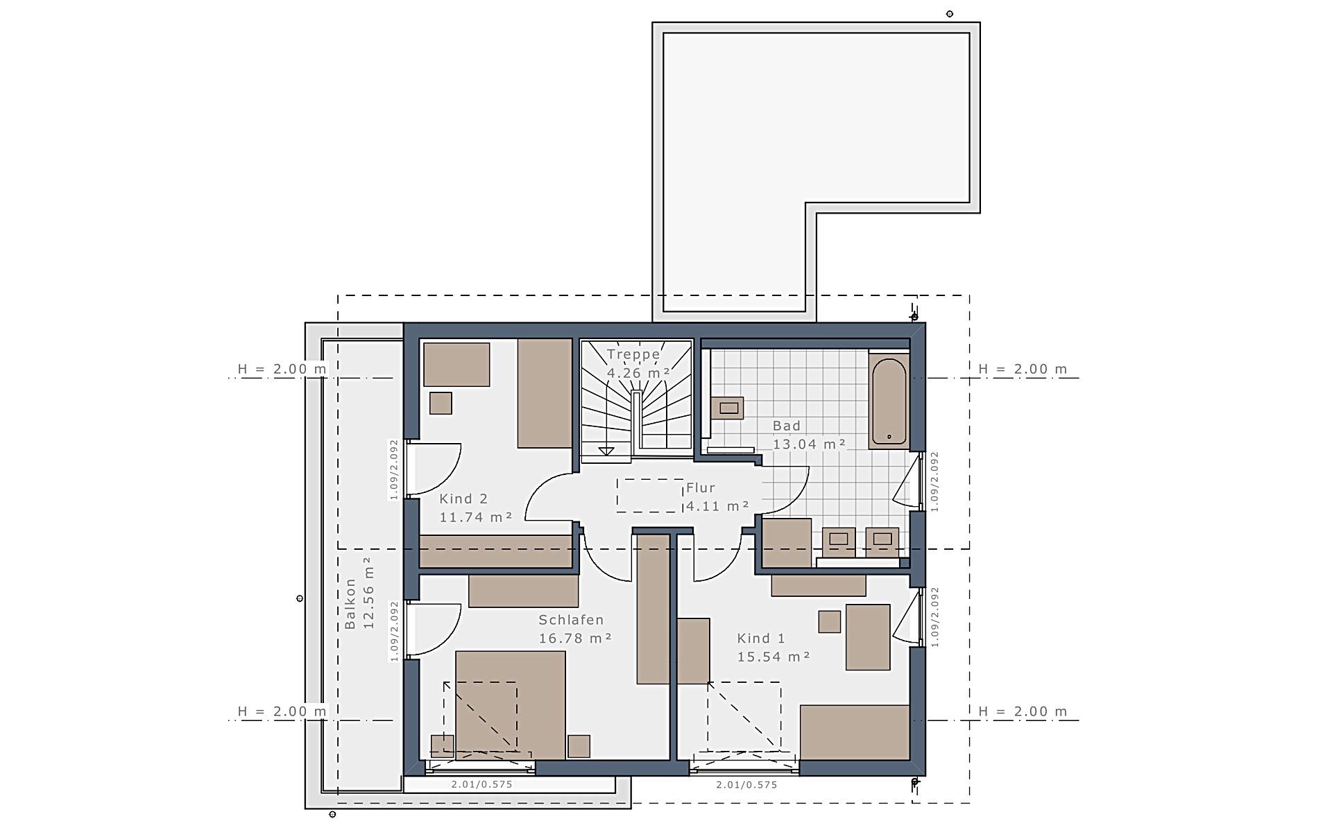 Dachgeschoss Sensation-E-132 E6 von Schwabenhaus GmbH & Co. KG