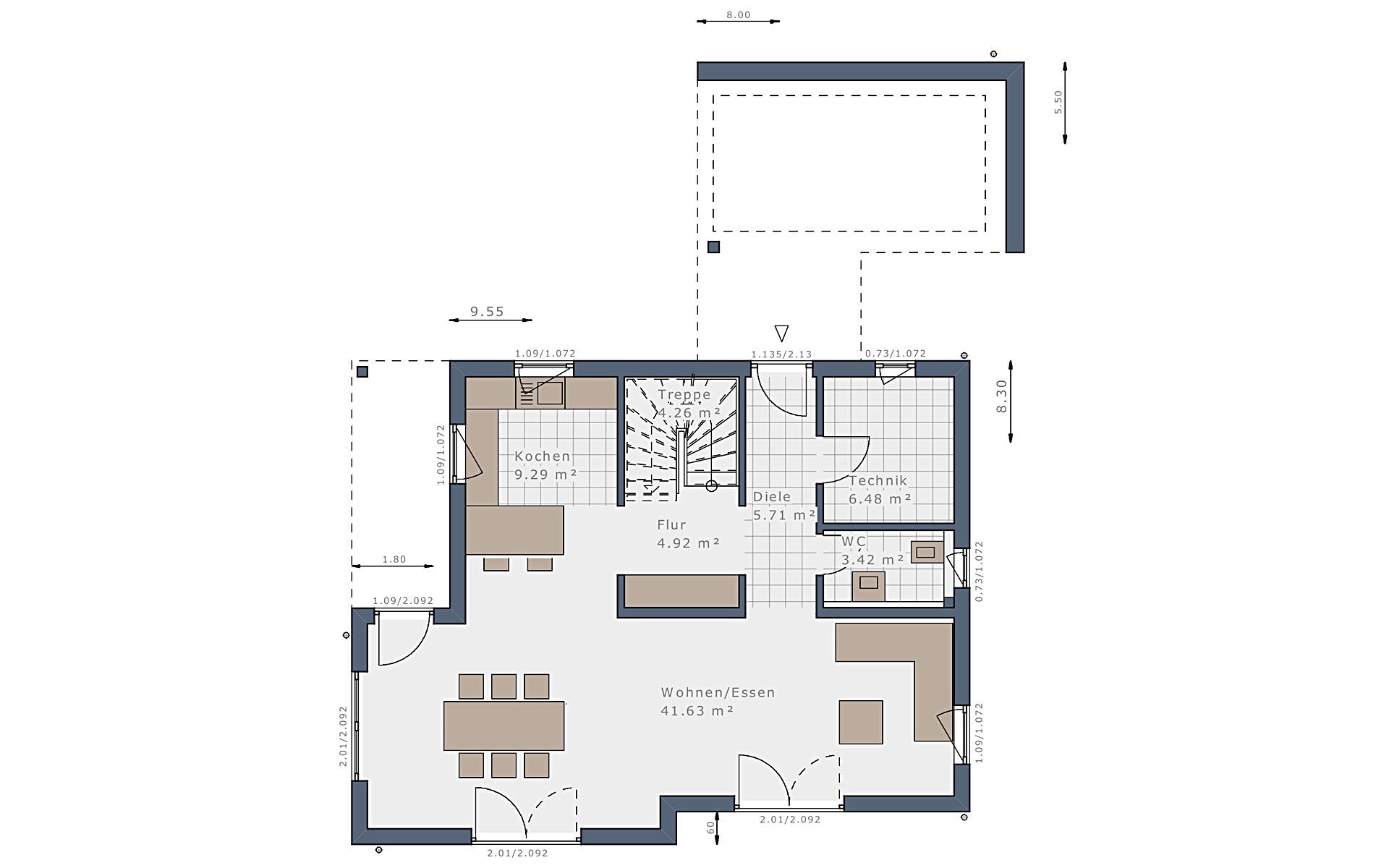 Erdgeschoss Sensation-E-132 E6 von Schwabenhaus GmbH & Co. KG