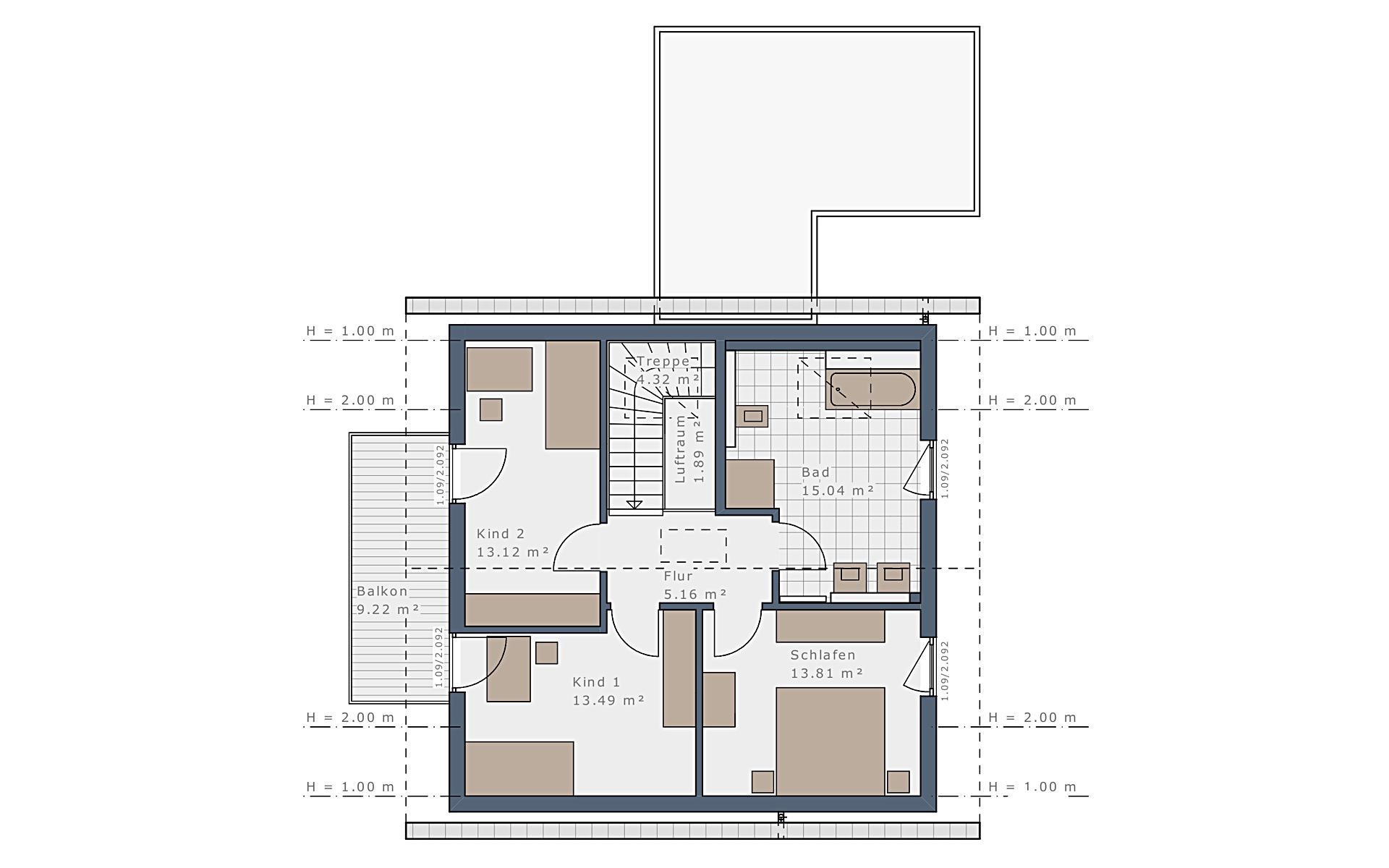 Dachgeschoss Sensation-E-133 E1 von Schwabenhaus GmbH & Co. KG