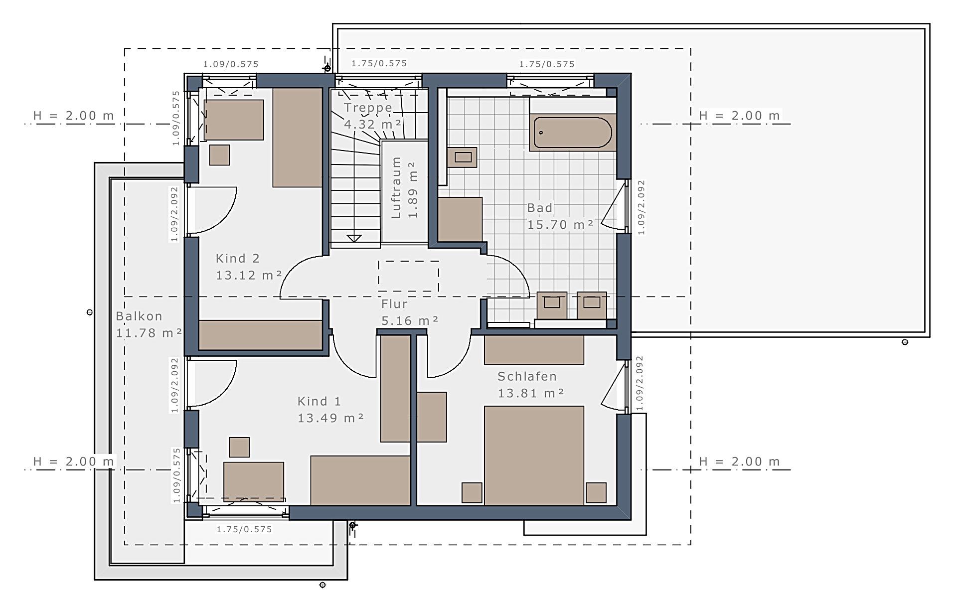 Dachgeschoss Sensation-E-133 E6 von Schwabenhaus GmbH & Co. KG
