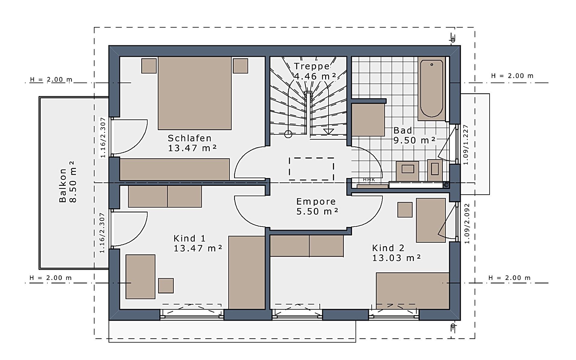 Dachgeschoss SmartSpace-E-120 E3 von Schwabenhaus GmbH & Co. KG