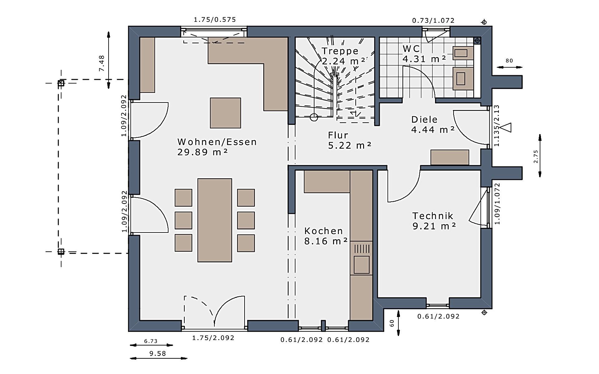 Erdgeschoss SmartSpace-E-120 E3 von Schwabenhaus GmbH & Co. KG