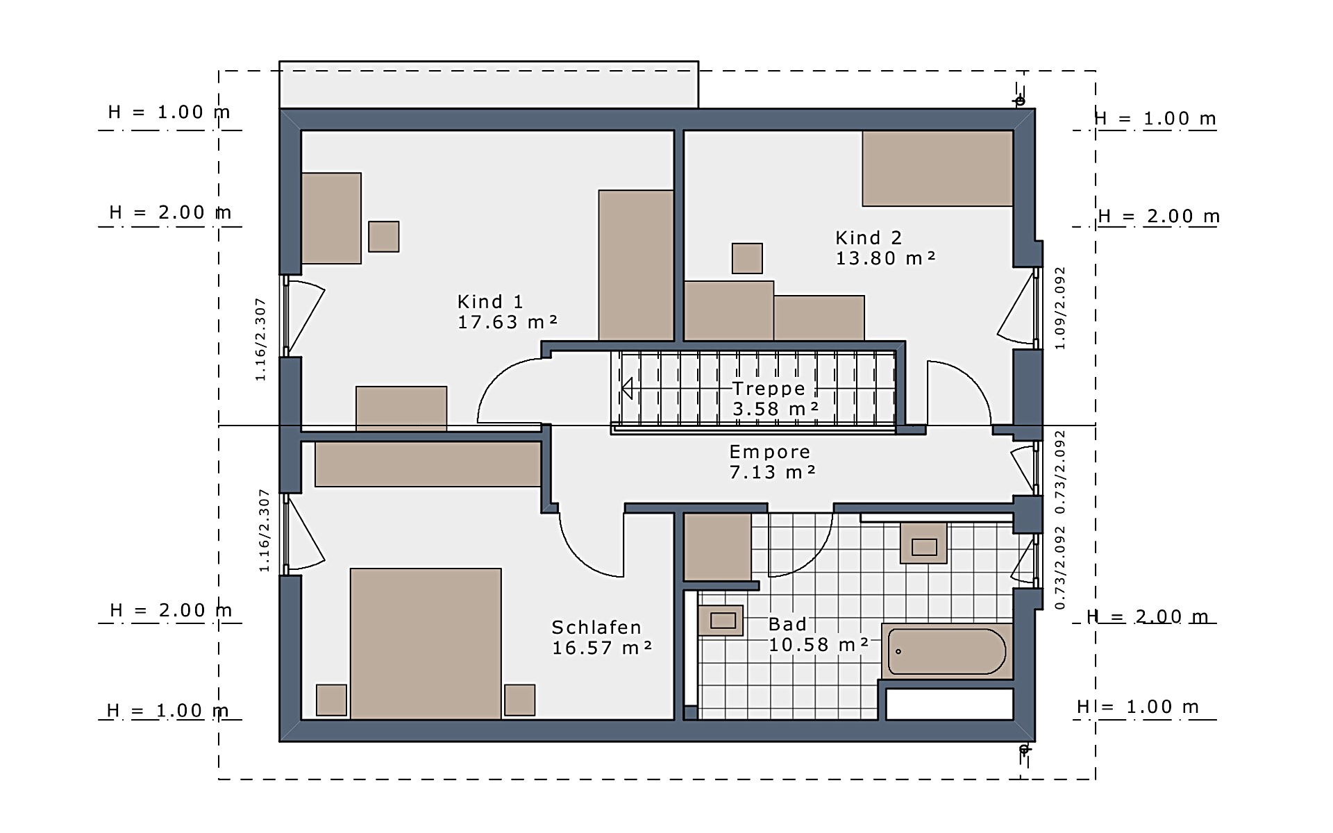 Dachgeschoss SmartSpace-E-140 E1 von Schwabenhaus GmbH & Co. KG