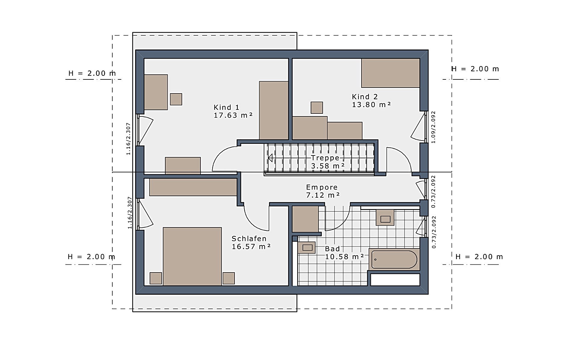 Dachgeschoss SmartSpace-E-140 E3 von Schwabenhaus GmbH & Co. KG