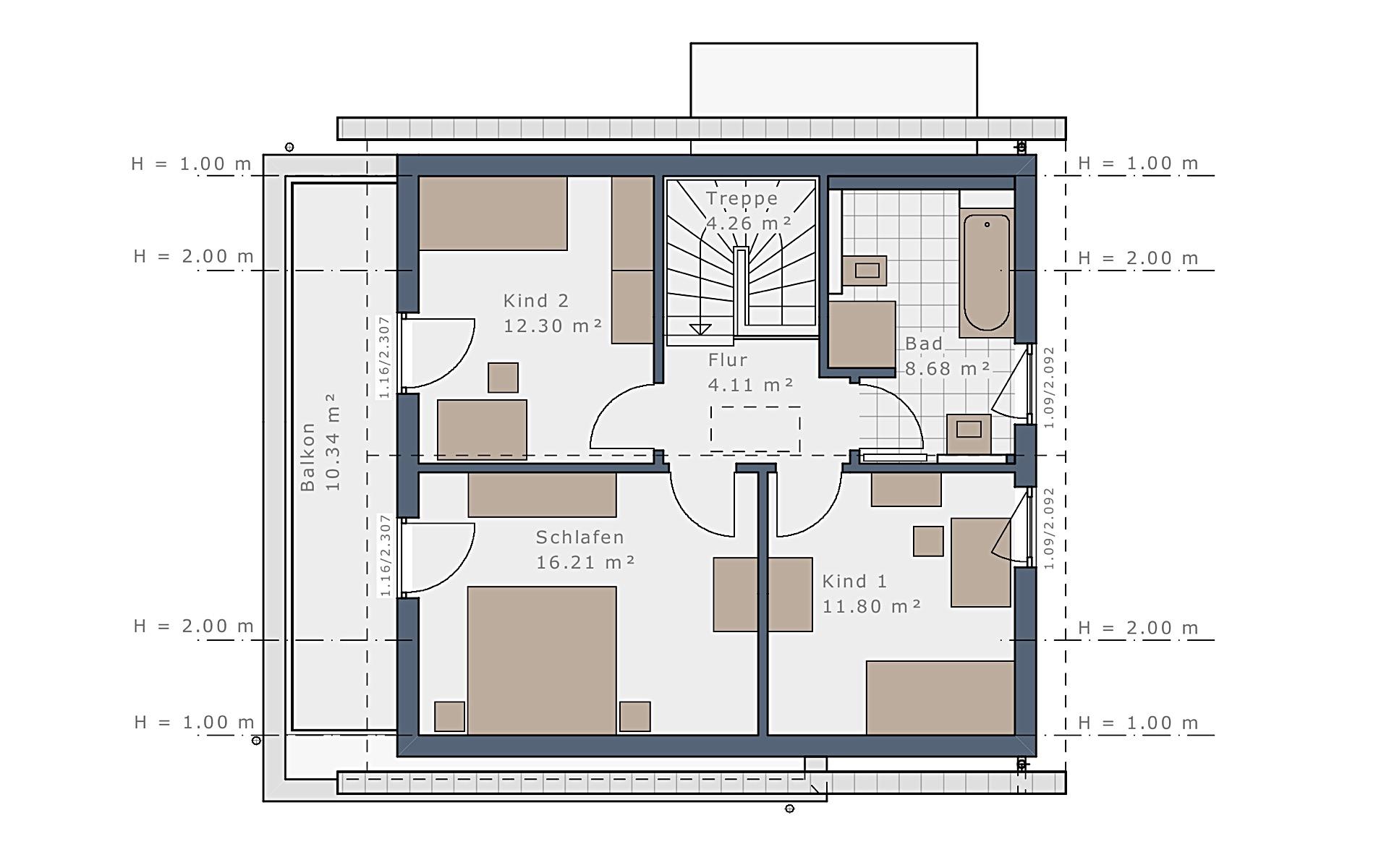 Dachgeschoss Solitaire-E-115 E1 von Schwabenhaus GmbH & Co. KG