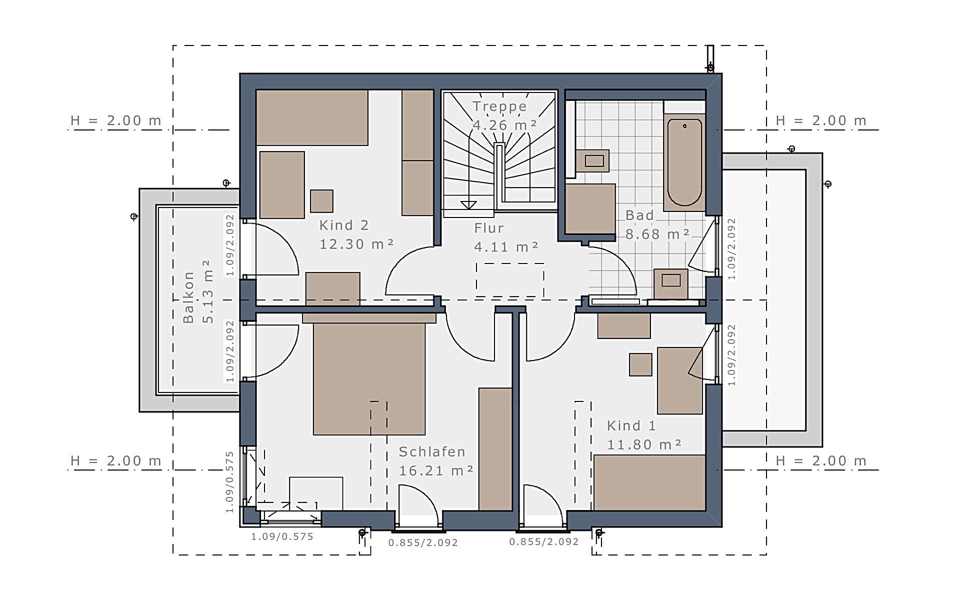 Dachgeschoss Solitaire-E-115 E4 von Schwabenhaus GmbH & Co. KG