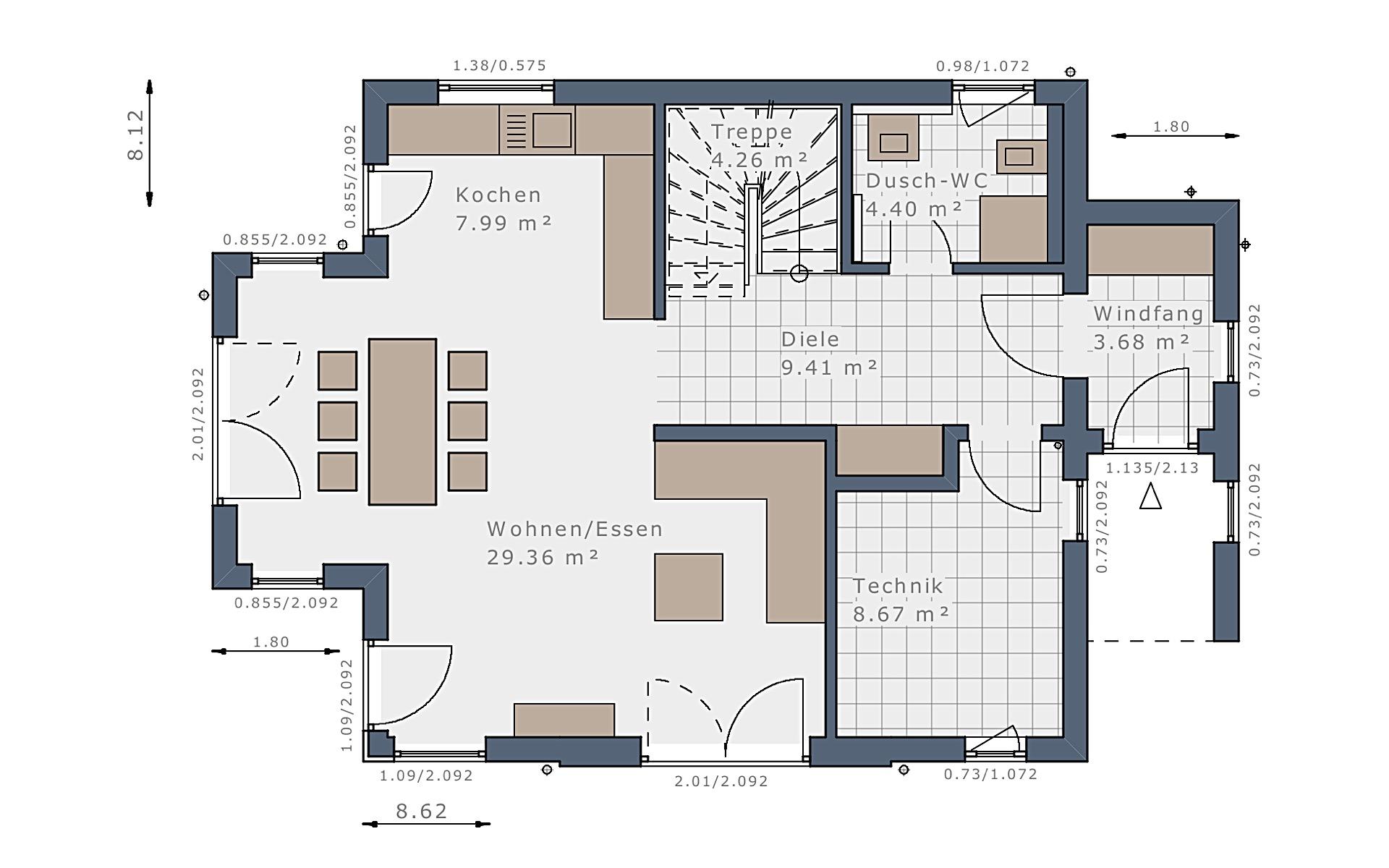 Erdgeschoss Solitaire-E-115 E4 von Schwabenhaus GmbH & Co. KG