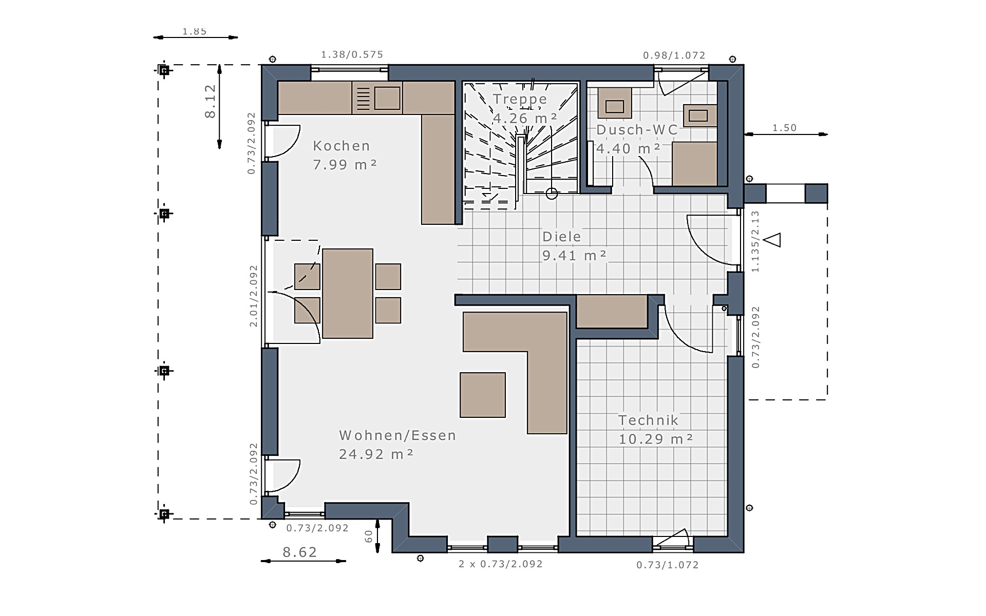 Erdgeschoss Solitaire-E-115 E7 von Schwabenhaus GmbH & Co. KG