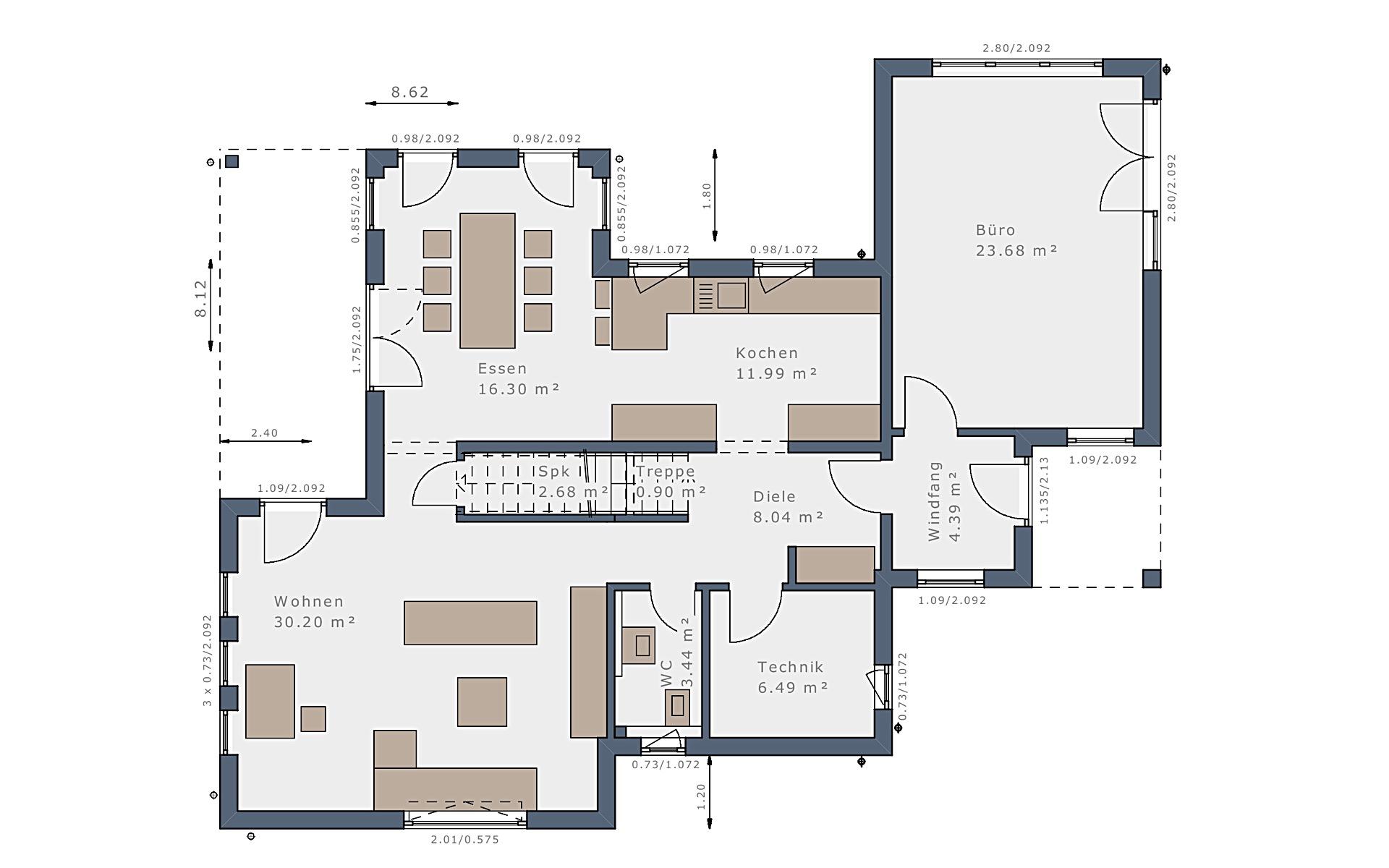 Erdgeschoss Solitaire-E-115 E9 von Schwabenhaus GmbH & Co. KG