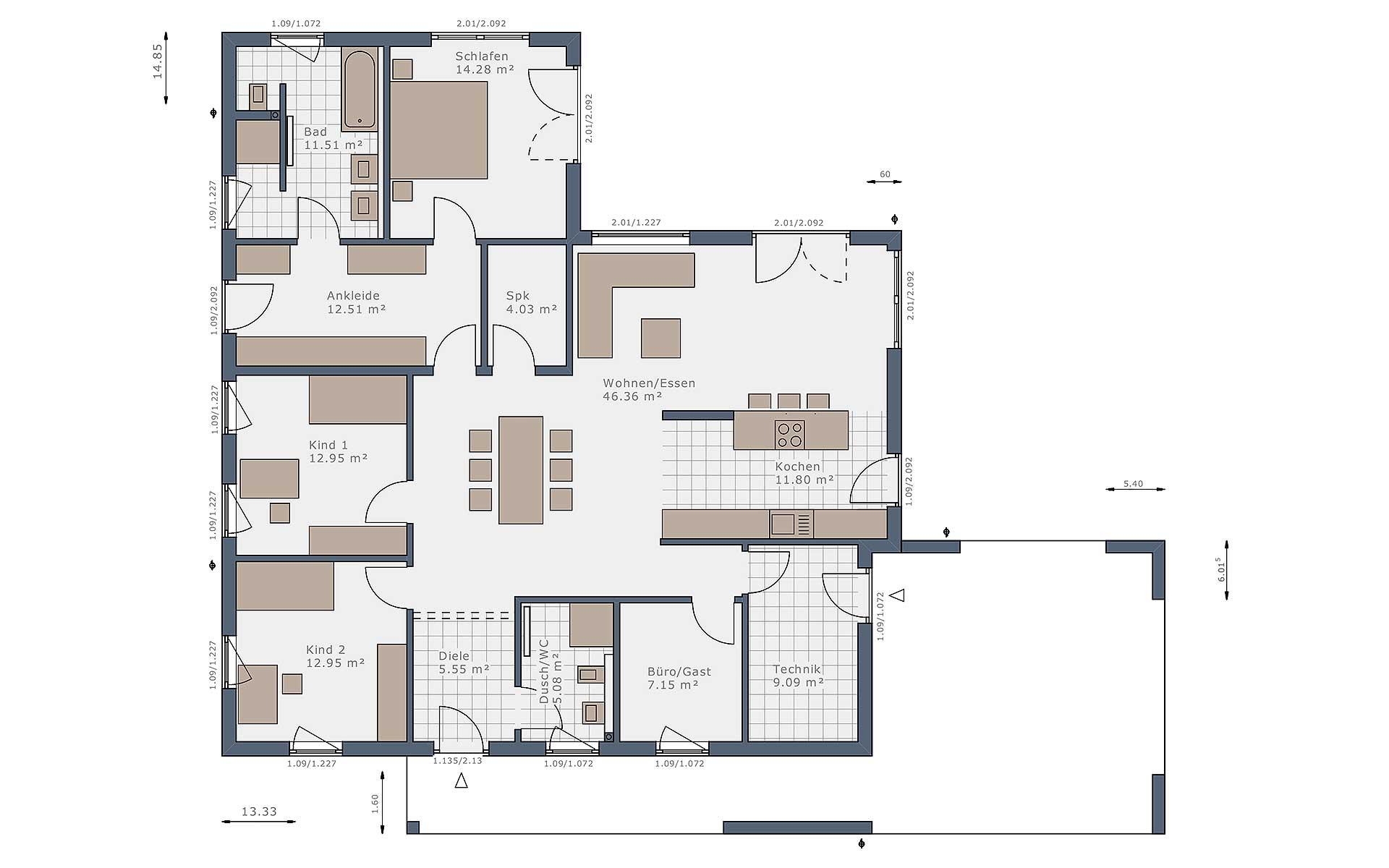 Erdgeschoss Solitaire-B-150 E4 von Schwabenhaus GmbH & Co. KG