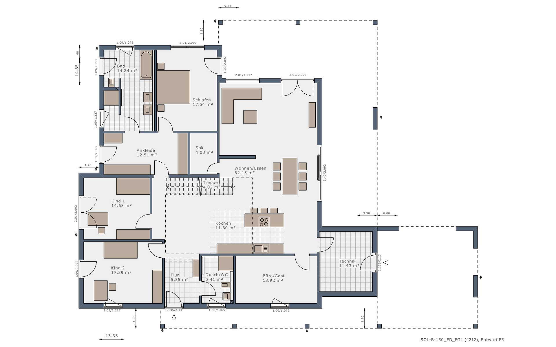 Erdgeschoss Solitaire-B-150 E5 von Schwabenhaus GmbH & Co. KG