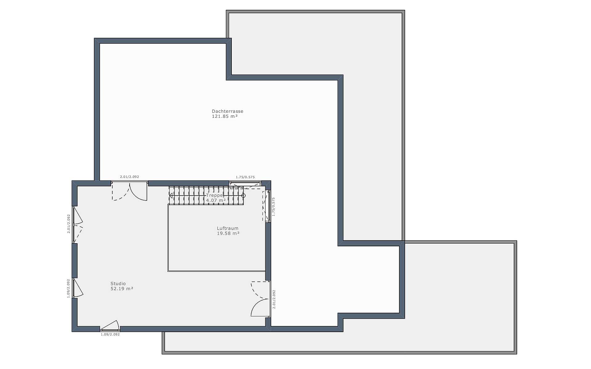 Obergeschoss Solitaire-B-150 E5 von Schwabenhaus GmbH & Co. KG