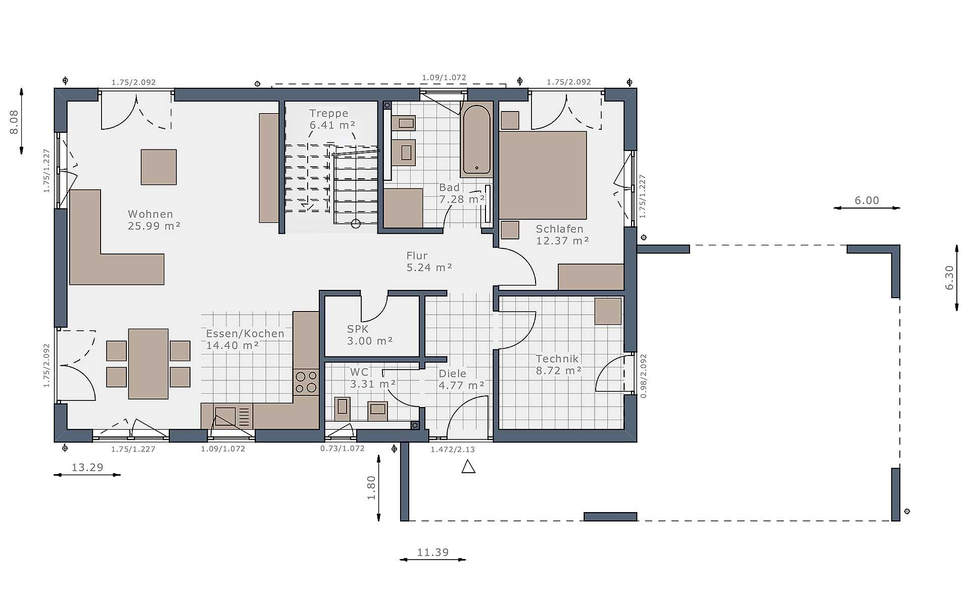 Erdgeschoss Solitaire-B-90 E5 von Schwabenhaus GmbH & Co. KG