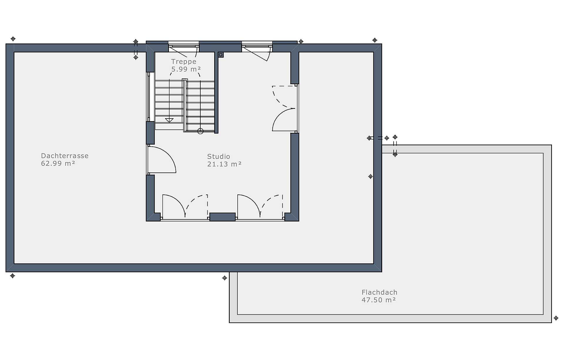 Obergeschoss Solitaire-B-90 E5 von Schwabenhaus GmbH & Co. KG