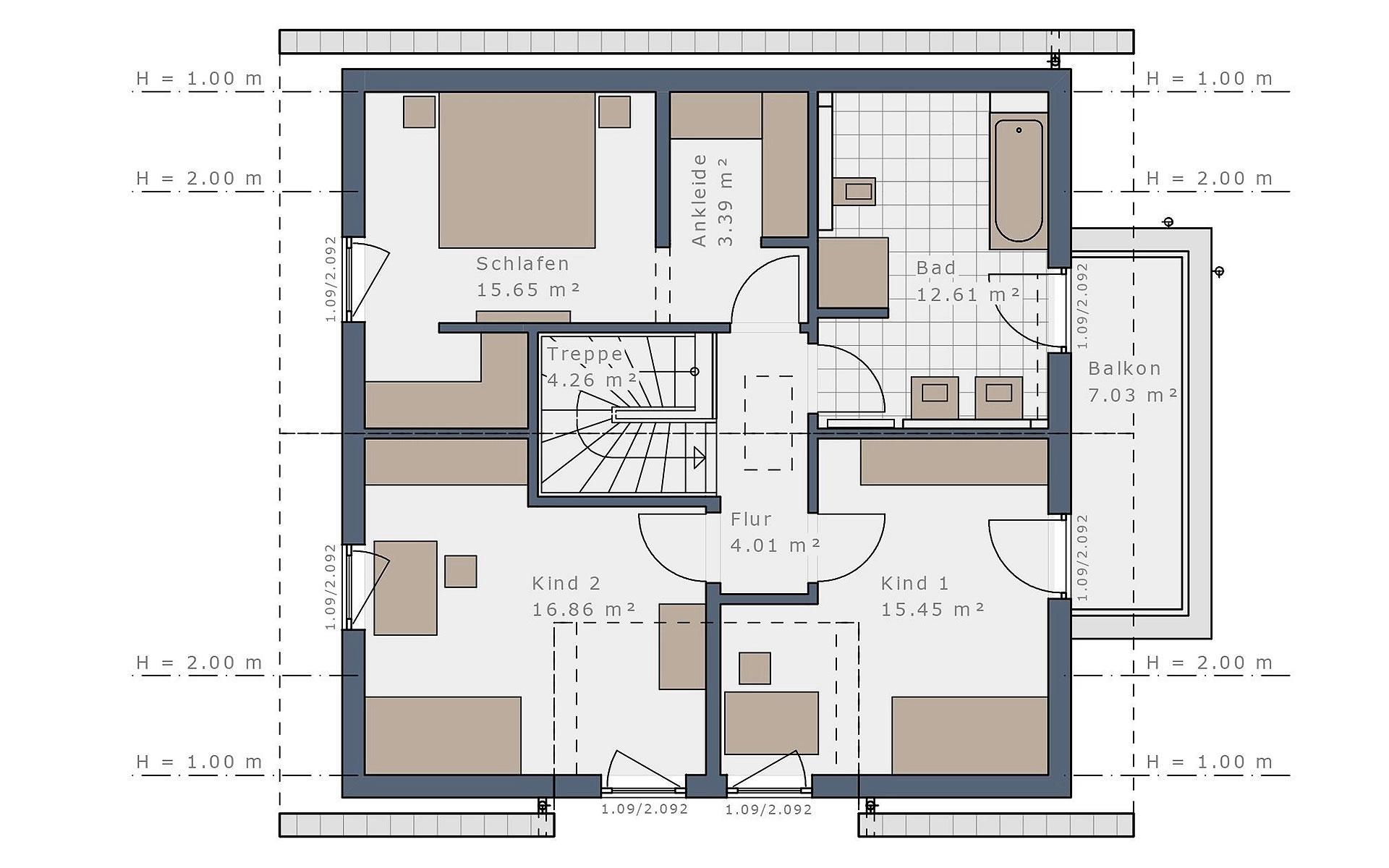 Dachgeschoss Solitaire-E-145 E2 von Schwabenhaus GmbH & Co. KG