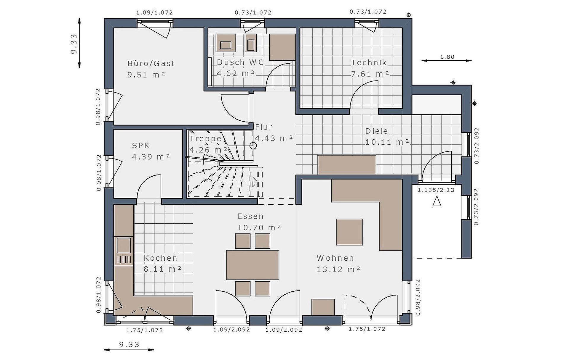 Erdgeschoss Solitaire-E-145 E2 von Schwabenhaus GmbH & Co. KG