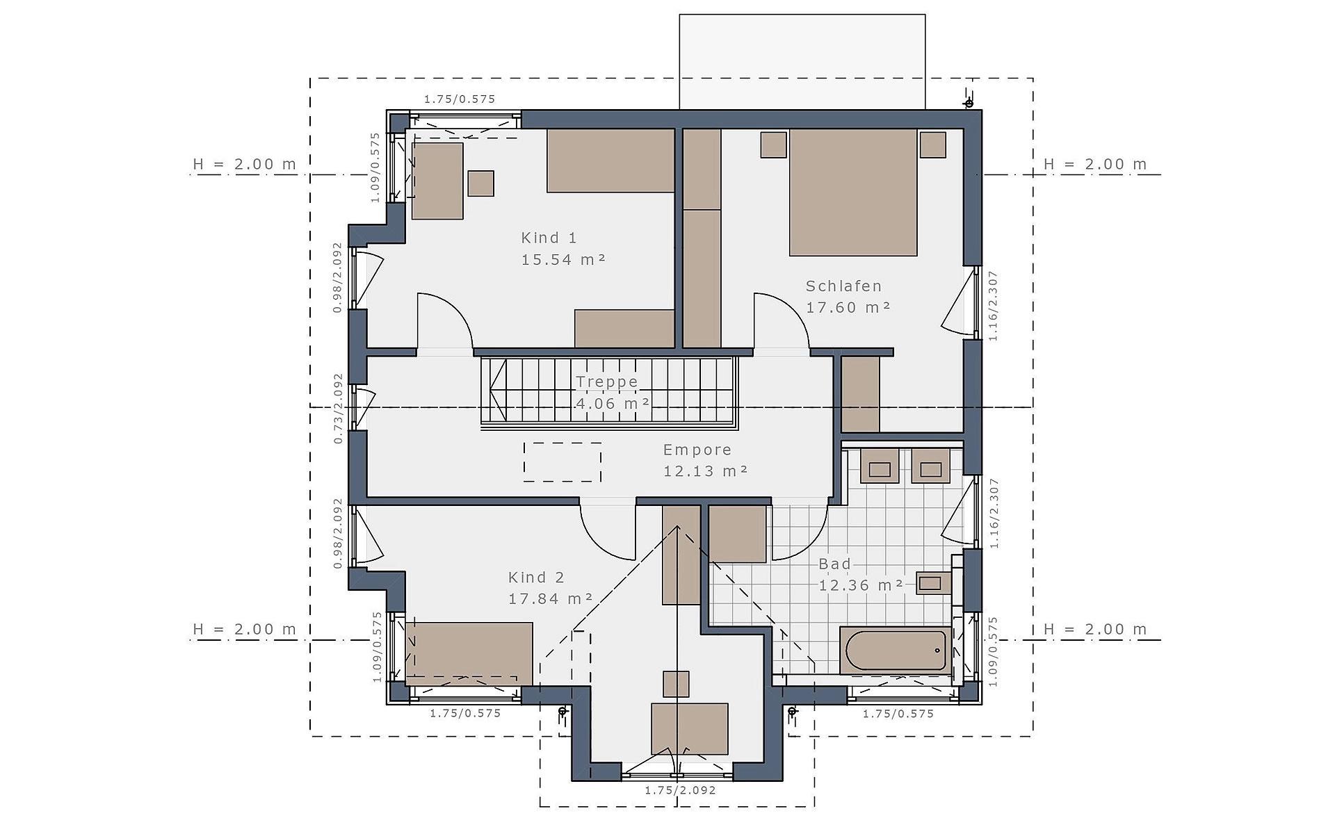 Dachgeschoss Solitaire-E-145 E5 von Schwabenhaus GmbH & Co. KG