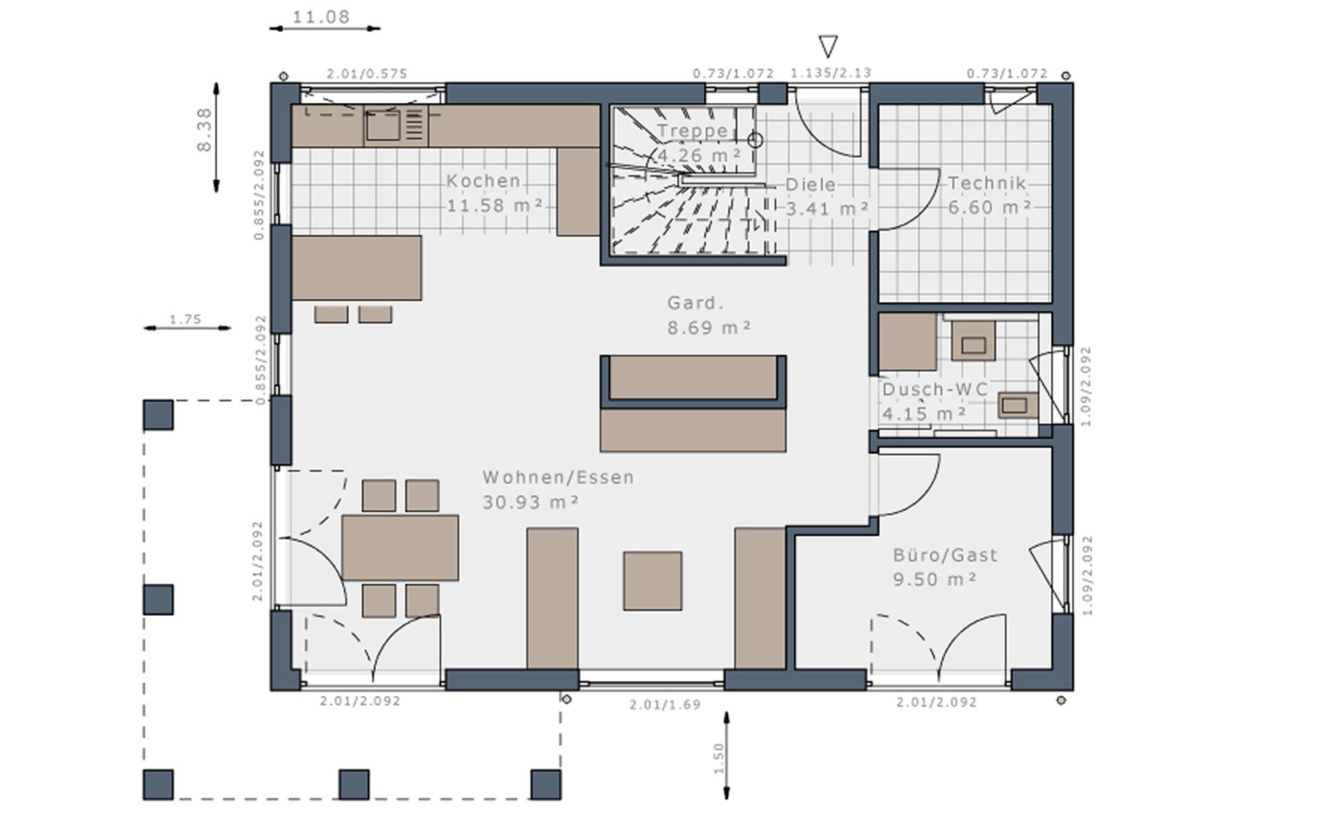 Erdgeschoss Solitaire-E-155 E7 von Schwabenhaus GmbH & Co. KG