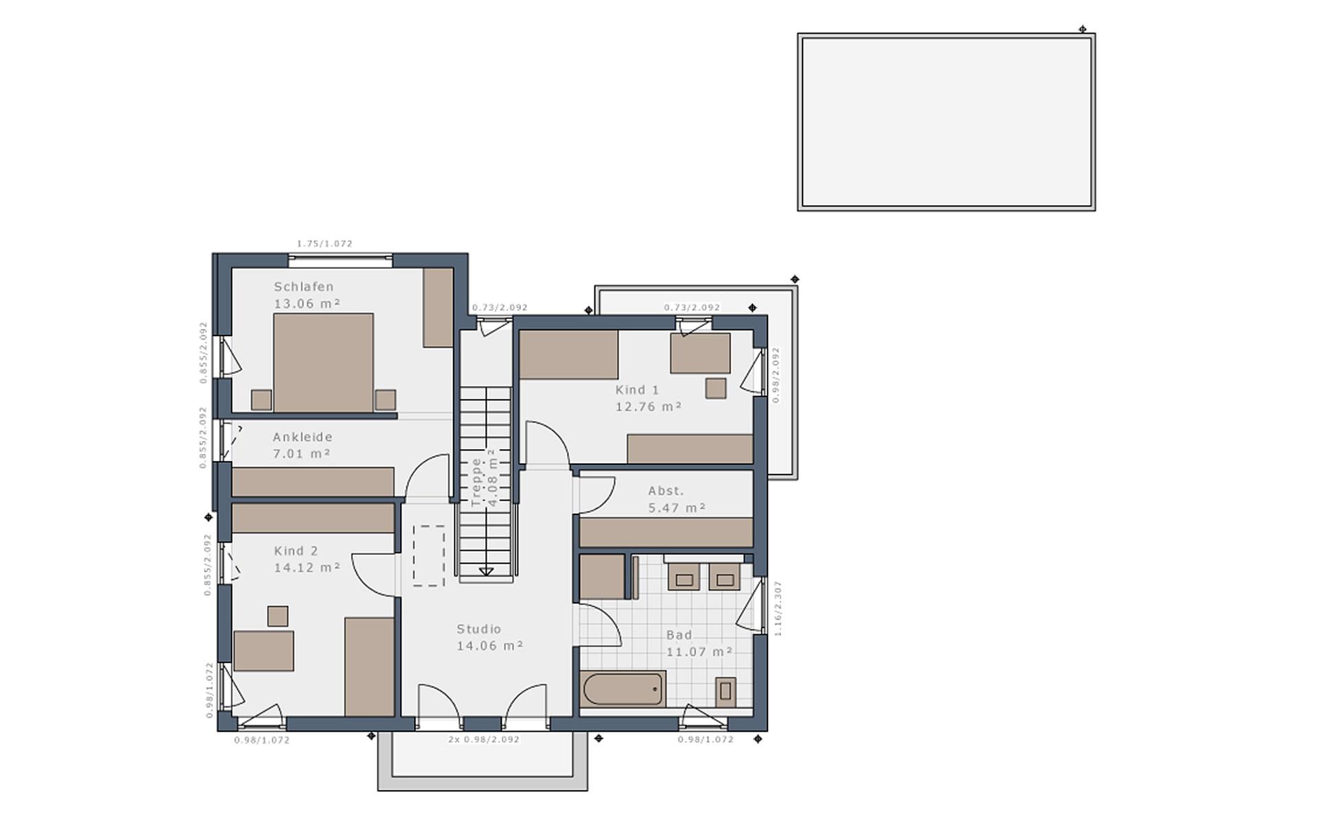 Obergeschoss Solitaire-E-155 E9 von Schwabenhaus GmbH & Co. KG
