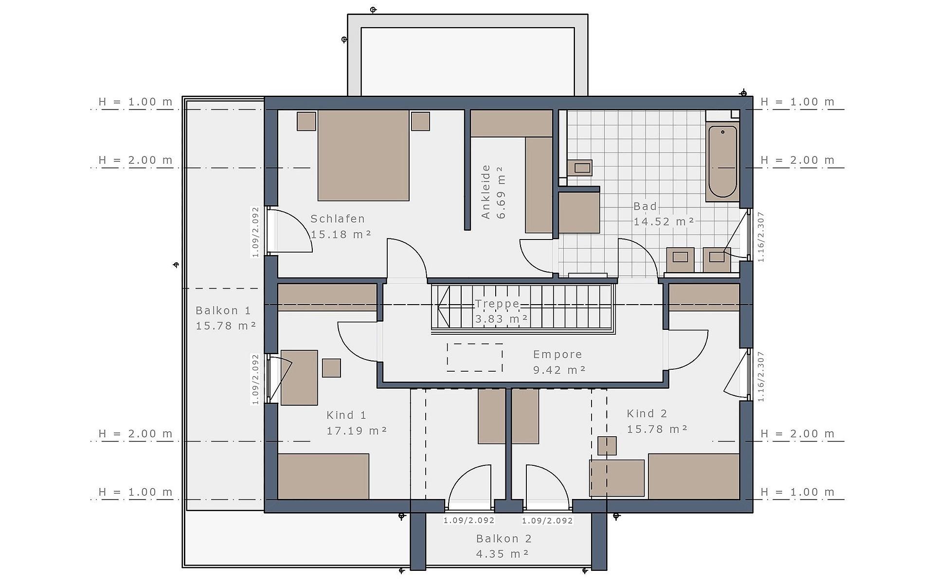 Dachgeschoss Solitaire-E-165 E3 von Schwabenhaus GmbH & Co. KG
