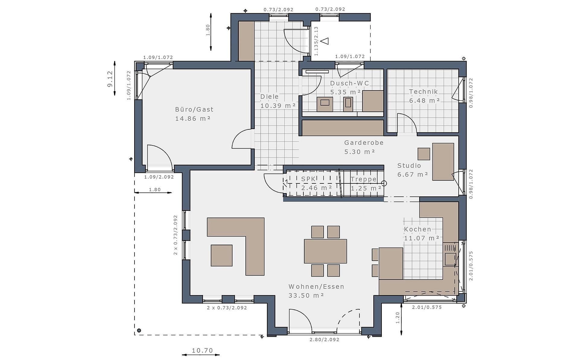 Erdgeschoss Solitaire-E-165 E3 von Schwabenhaus GmbH & Co. KG