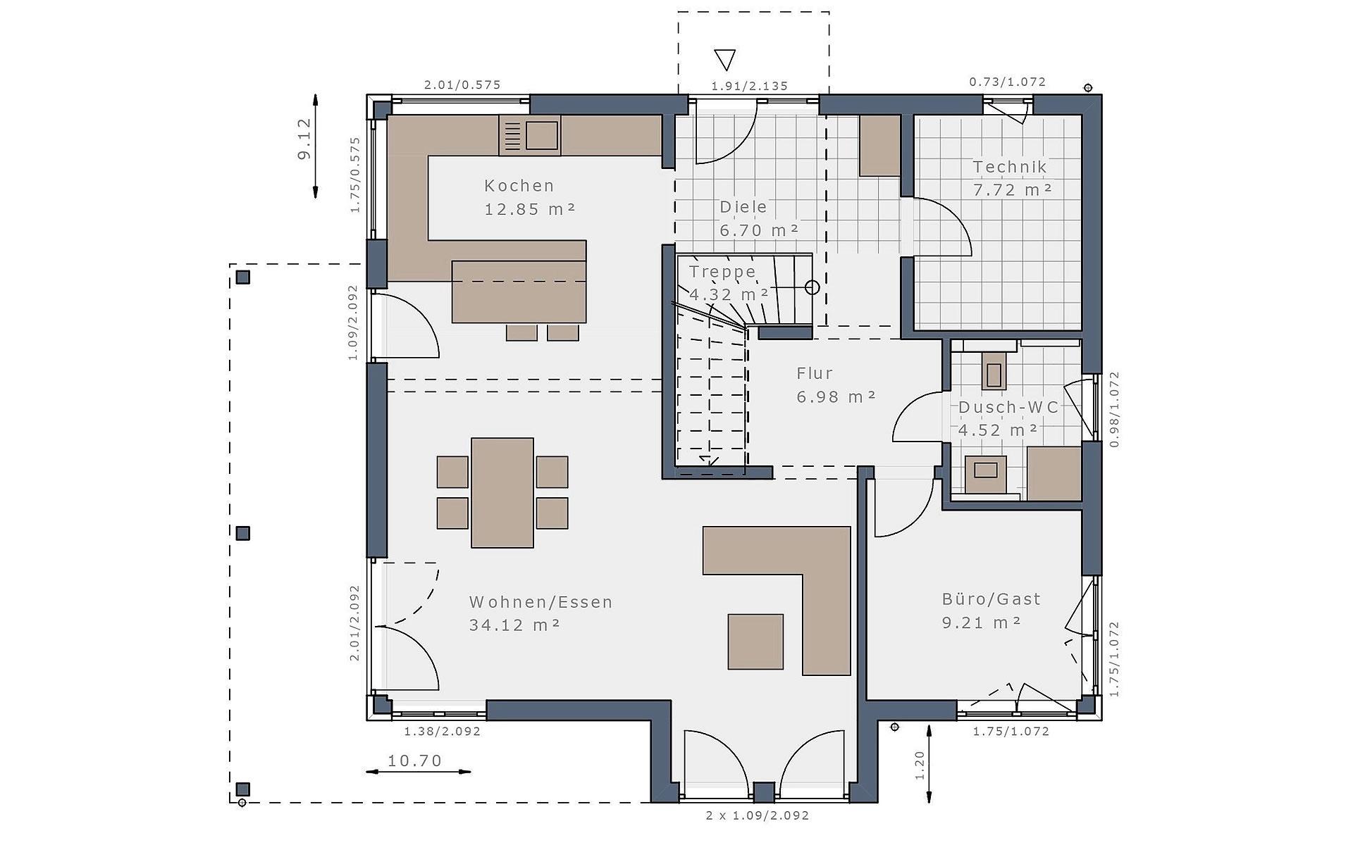 Erdgeschoss Solitaire-E-165 E4 von Schwabenhaus GmbH & Co. KG