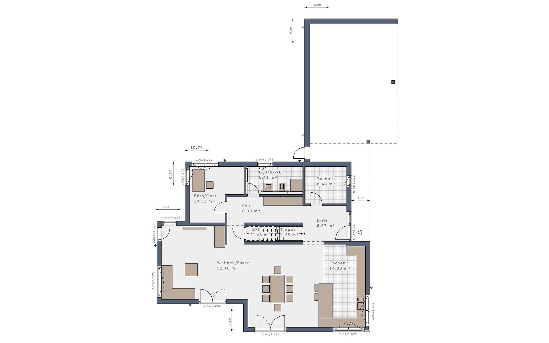 Erdgeschoss Solitaire-E-165 E9 von Schwabenhaus GmbH & Co. KG