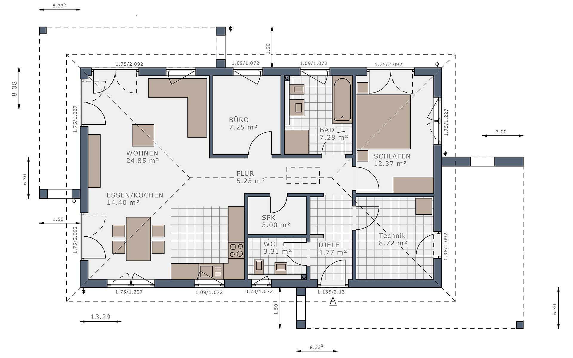 Erdgeschoss Solitaire-B-90 E2 von Schwabenhaus GmbH & Co. KG