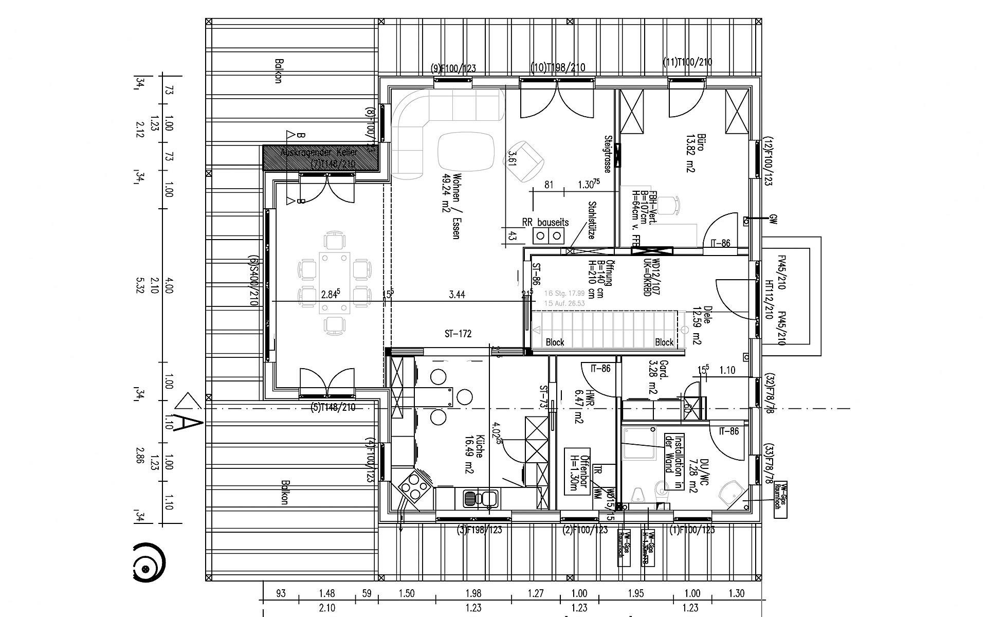 Erdgeschoss Attergau von Sonnleitner Holzbauwerke GmbH & Co. KG