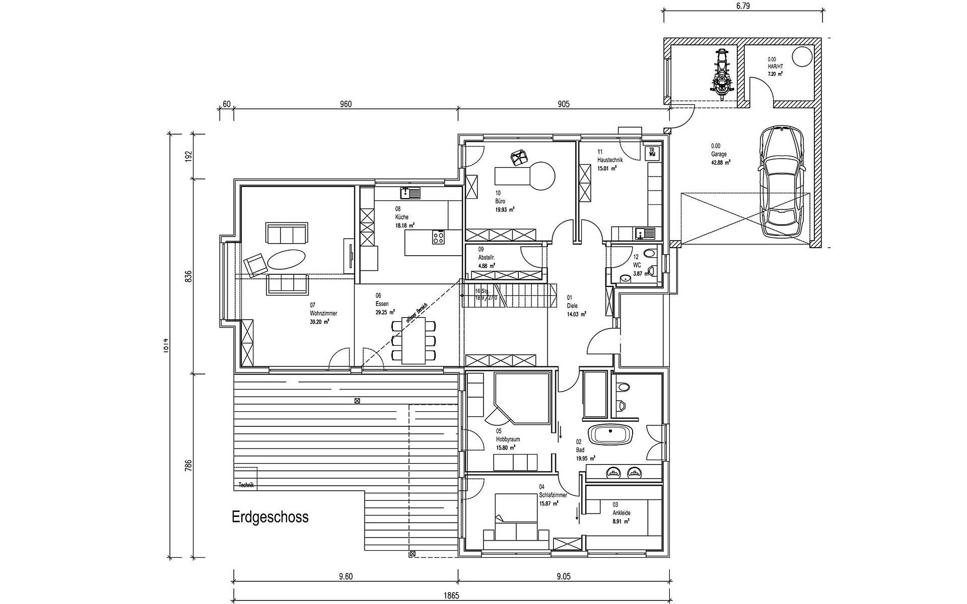 Erdgeschoss Freilinger von Sonnleitner Holzbauwerke GmbH & Co. KG