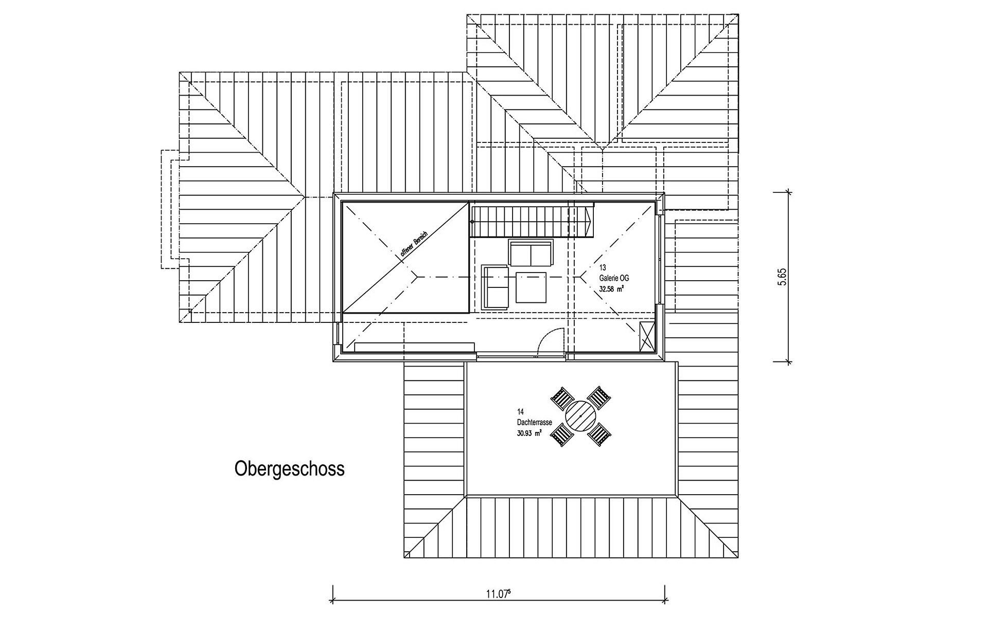 Obergeschoss Freilinger von Sonnleitner Holzbauwerke GmbH & Co. KG