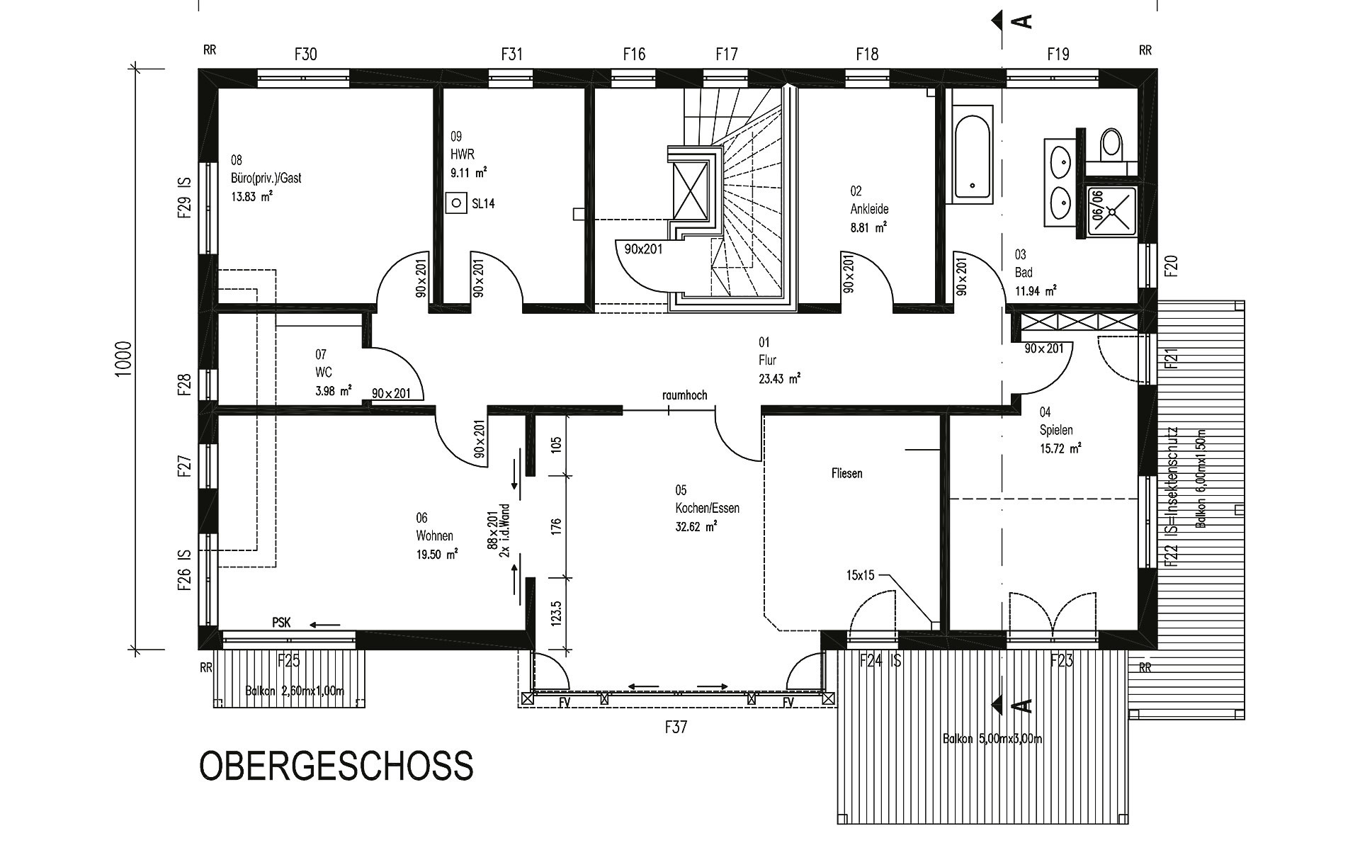 Obergeschoss Gruber von Sonnleitner Holzbauwerke GmbH & Co. KG