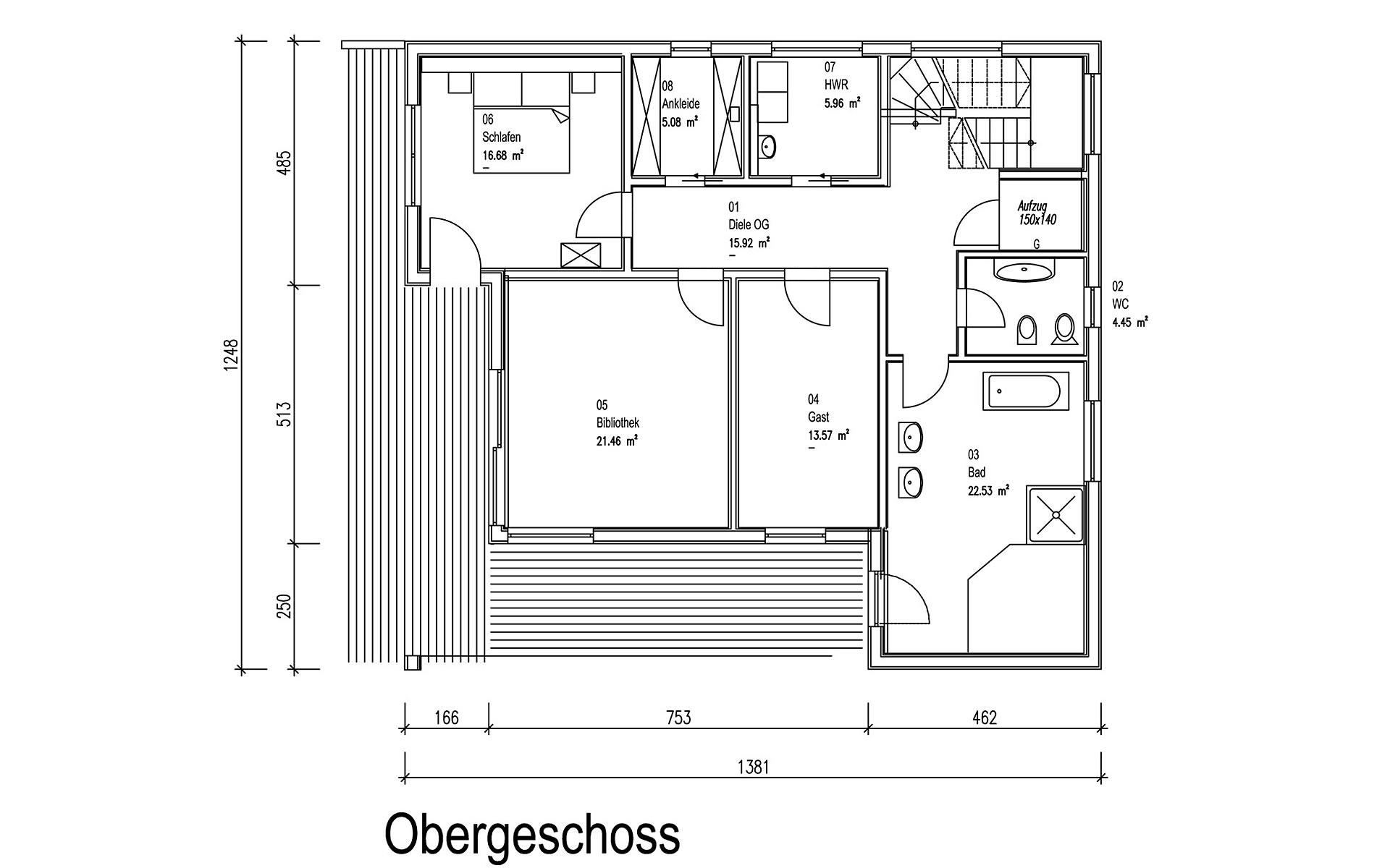 Obergeschoss Grünwald von Sonnleitner Holzbauwerke GmbH & Co. KG