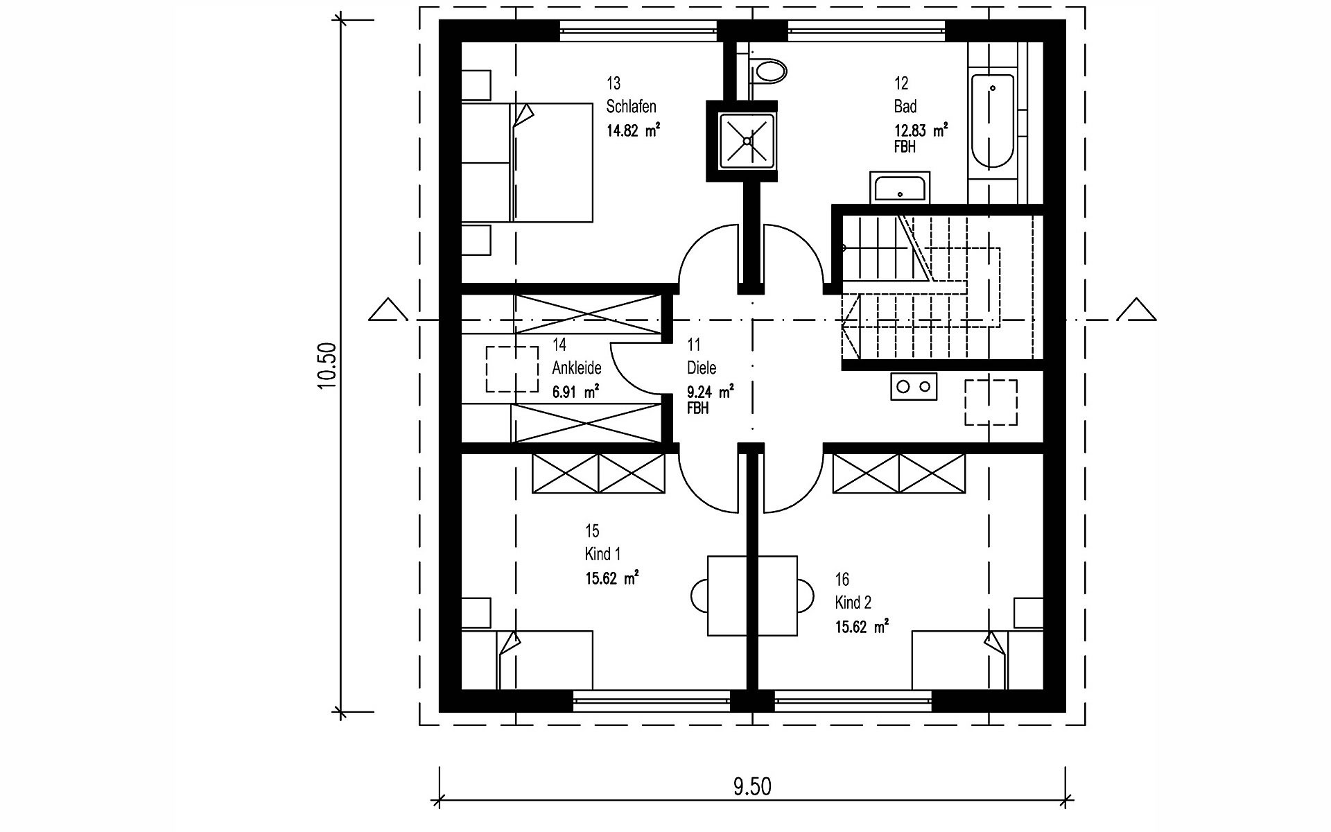 Obergeschoss Hegger von Sonnleitner Holzbauwerke GmbH & Co. KG