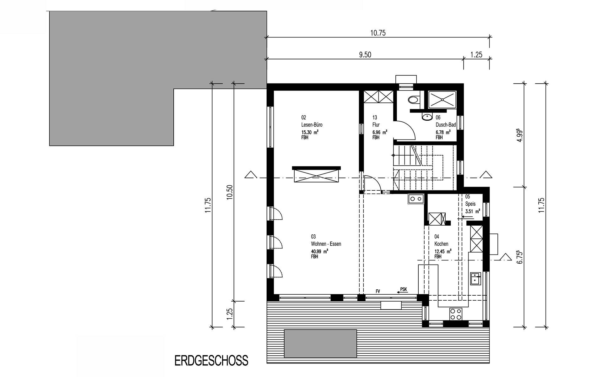 Erdgeschoss Hegger von Sonnleitner Holzbauwerke GmbH & Co. KG
