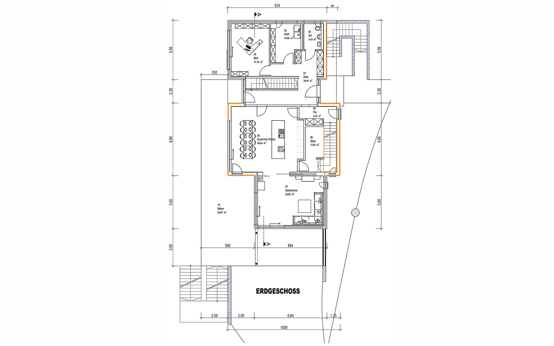 Erdgeschoss Kornfeld von Sonnleitner Holzbauwerke GmbH & Co. KG