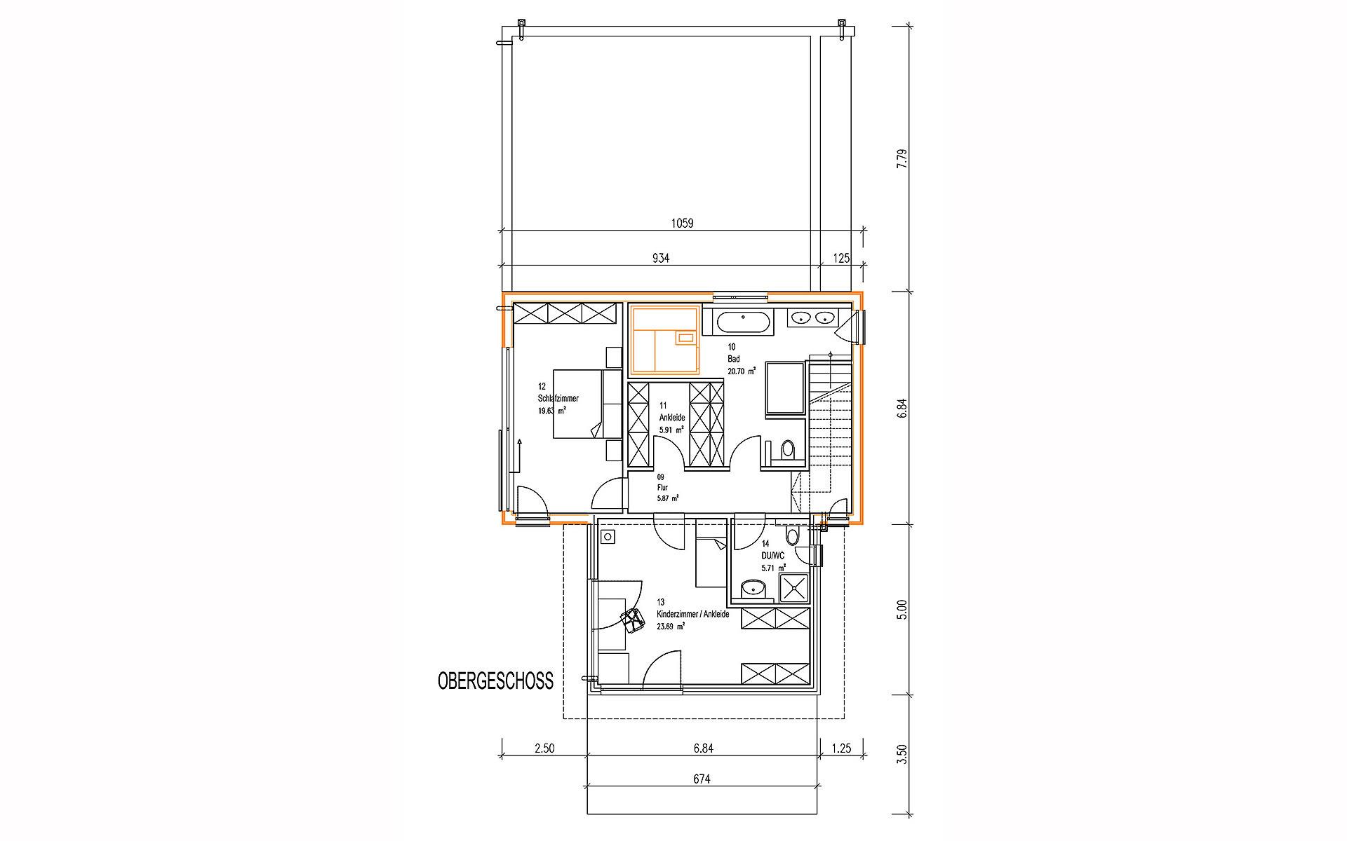 Obergeschoss Kornfeld von Sonnleitner Holzbauwerke GmbH & Co. KG