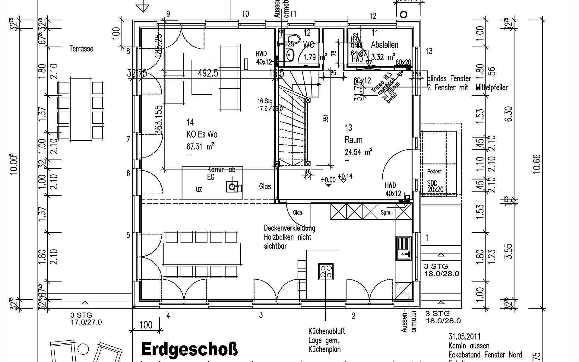 Erdgeschoss Küstner von Sonnleitner Holzbauwerke GmbH & Co. KG
