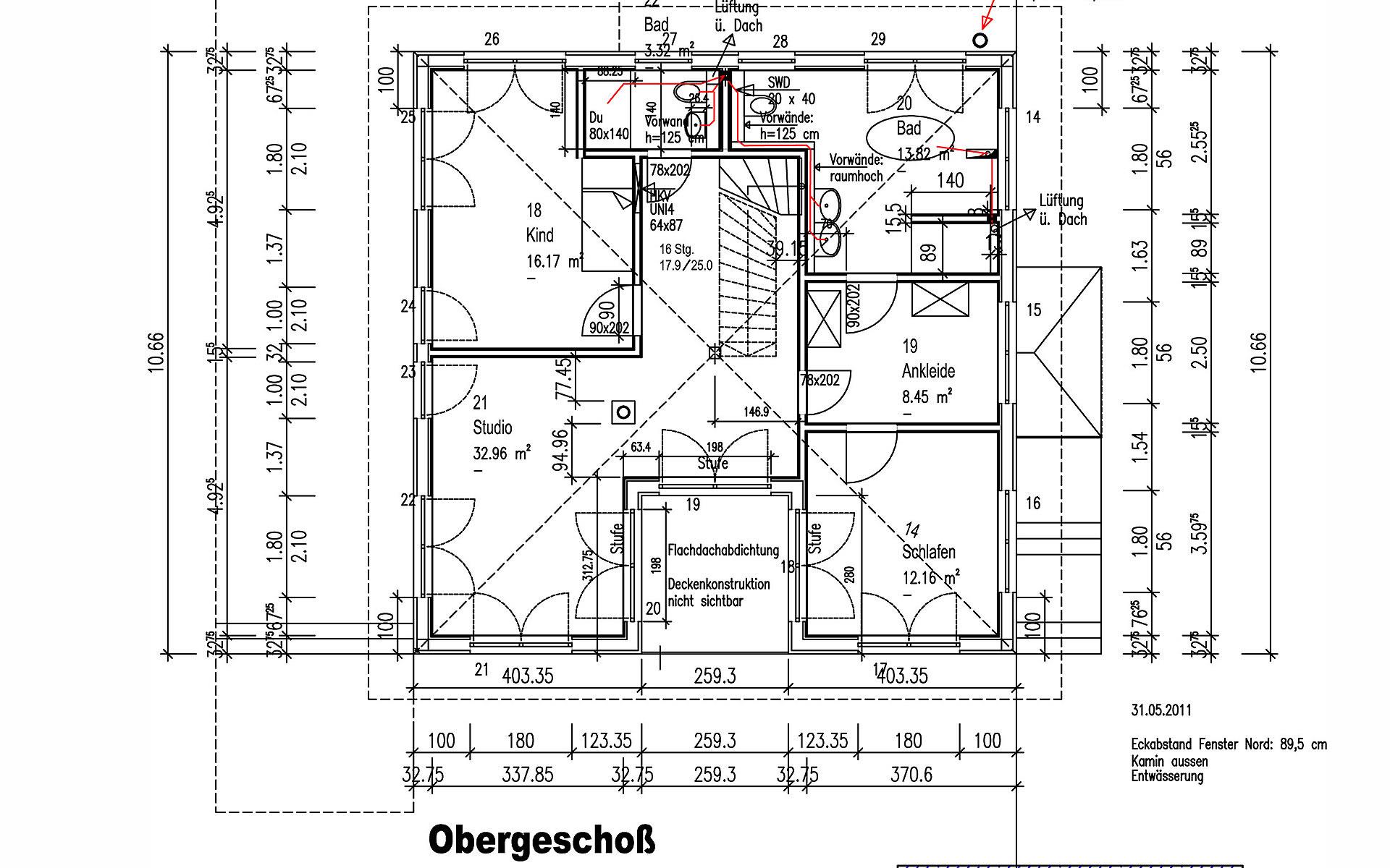Obergeschoss Küstner von Sonnleitner Holzbauwerke GmbH & Co. KG