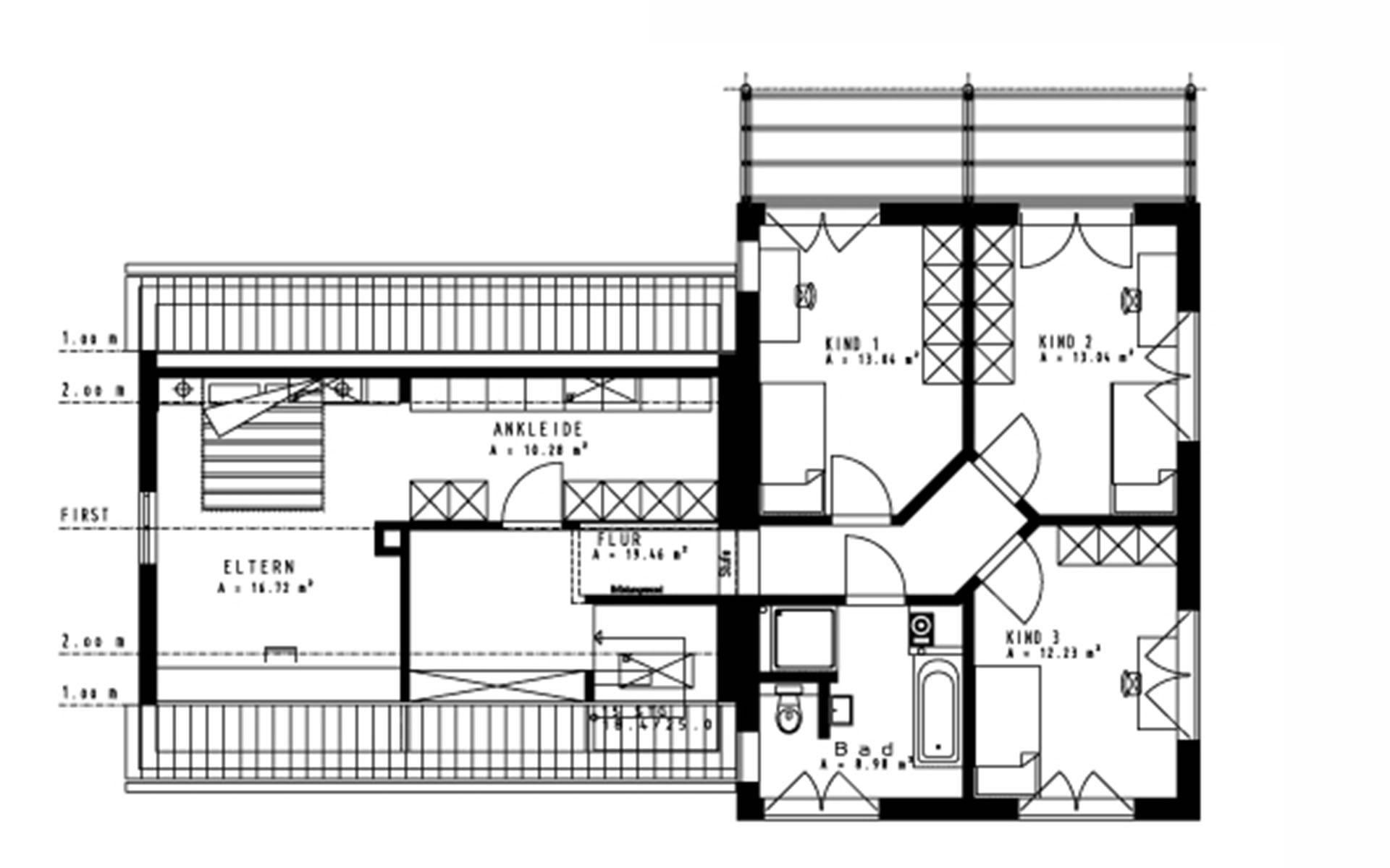 Obergeschoss Mangold von Sonnleitner Holzbauwerke GmbH & Co. KG
