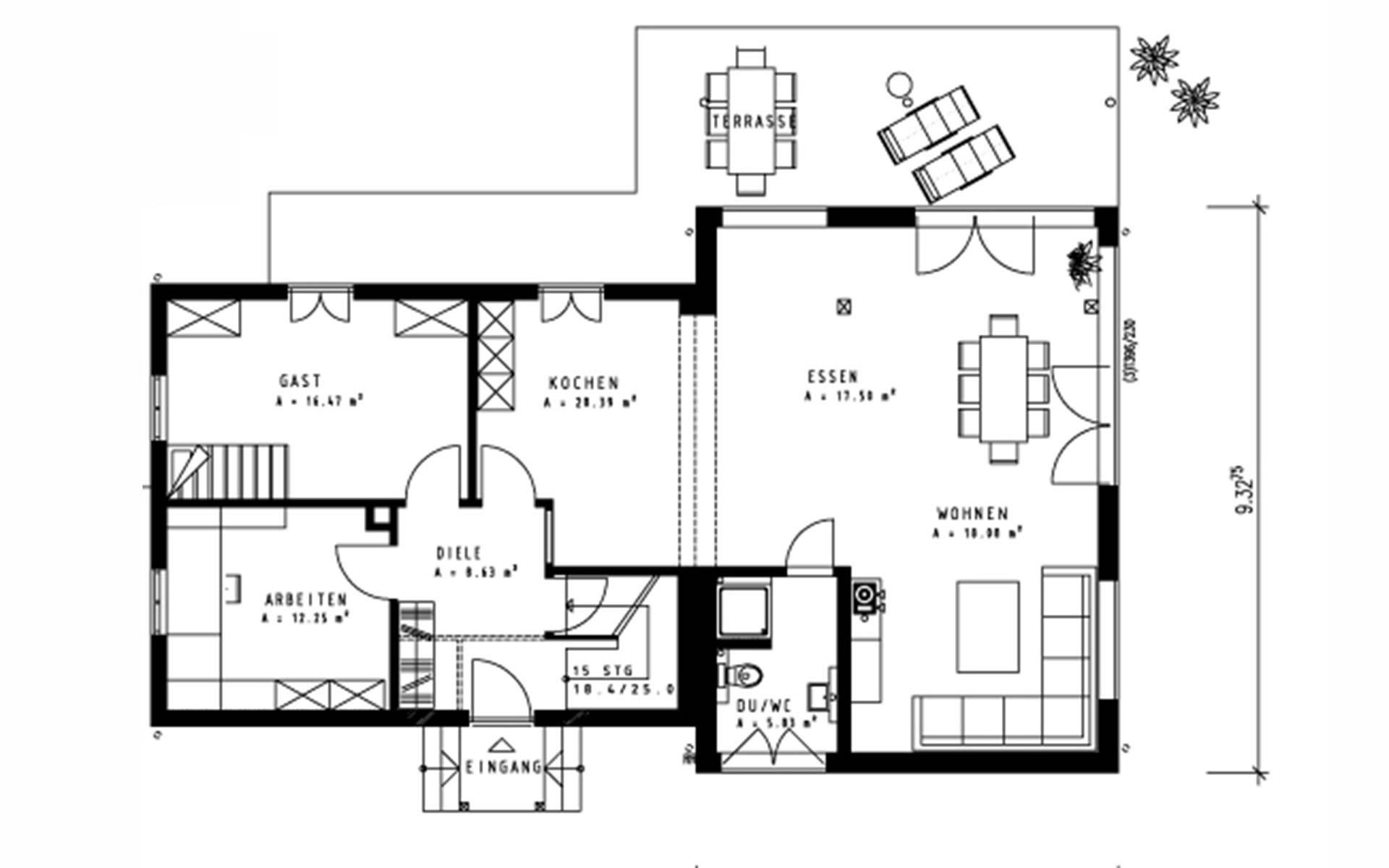Erdgeschoss Mangold von Sonnleitner Holzbauwerke GmbH & Co. KG
